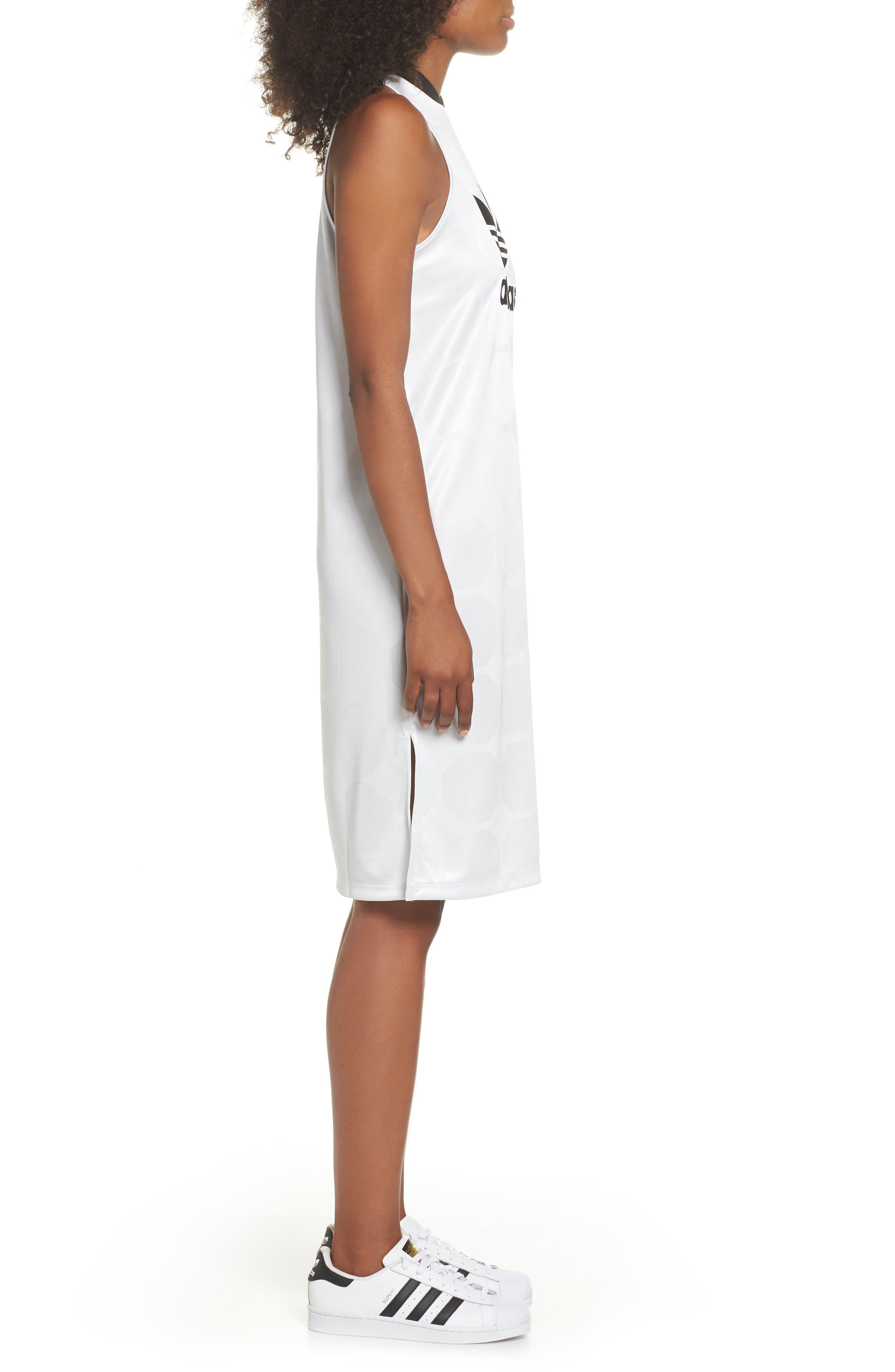 Fashion League Trefoil Jacquard Tank Dress,                             Alternate thumbnail 3, color,                             100