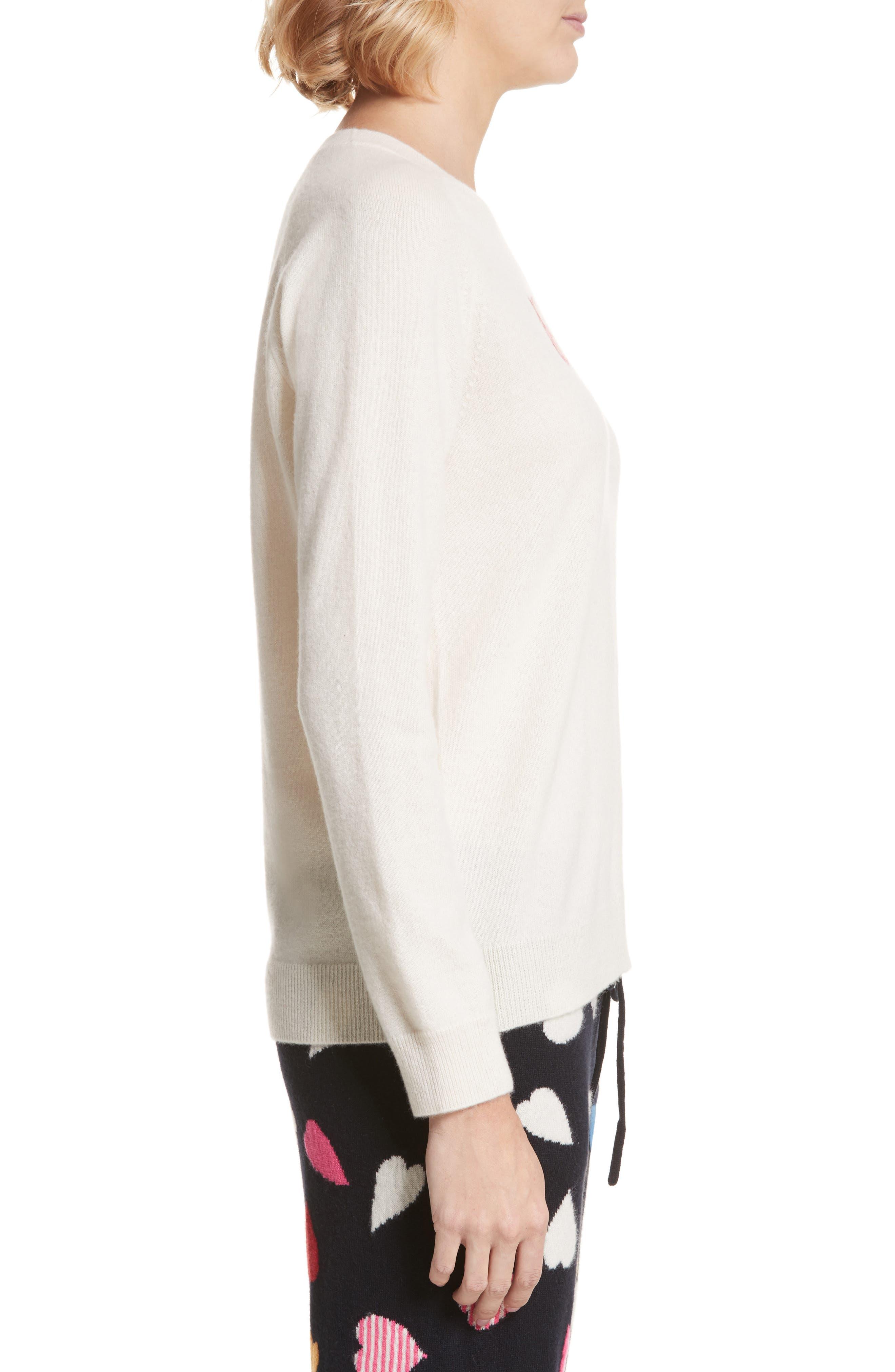 CHINTI & PARKER Bonjour/Bonsoir Cashmere Sweater,                             Alternate thumbnail 3, color,                             900