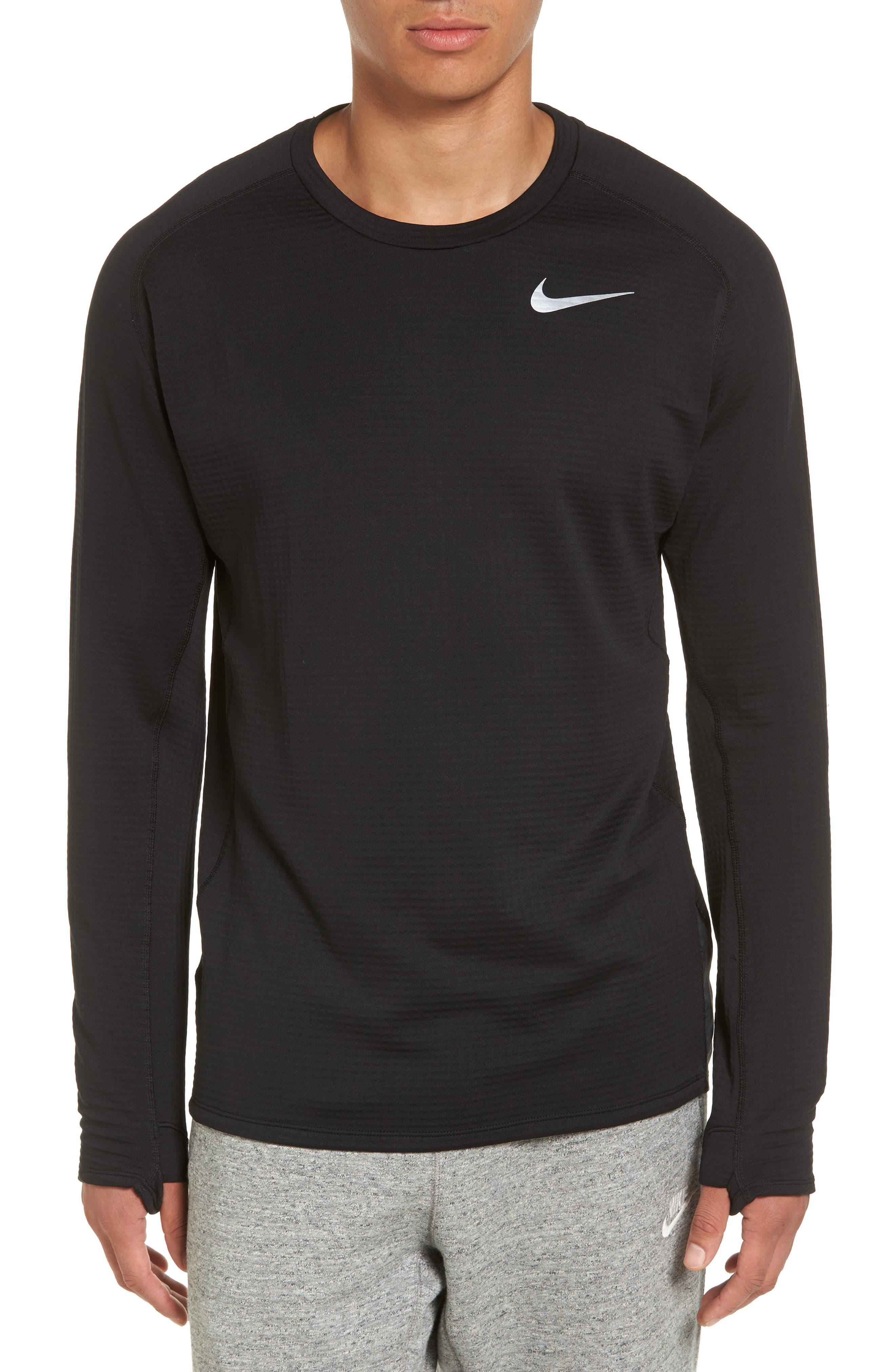 ThermaSphere Long Sleeve Running T-Shirt,                             Main thumbnail 1, color,                             011