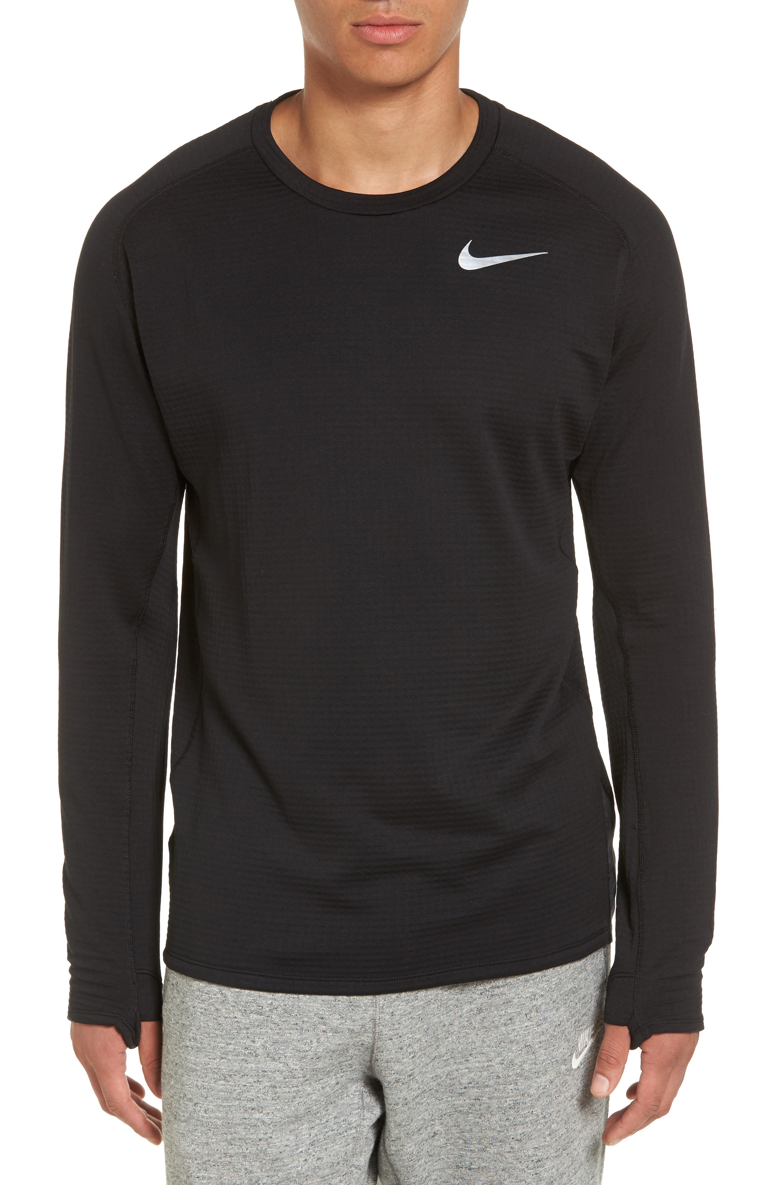 ThermaSphere Long Sleeve Running T-Shirt,                         Main,                         color, 011