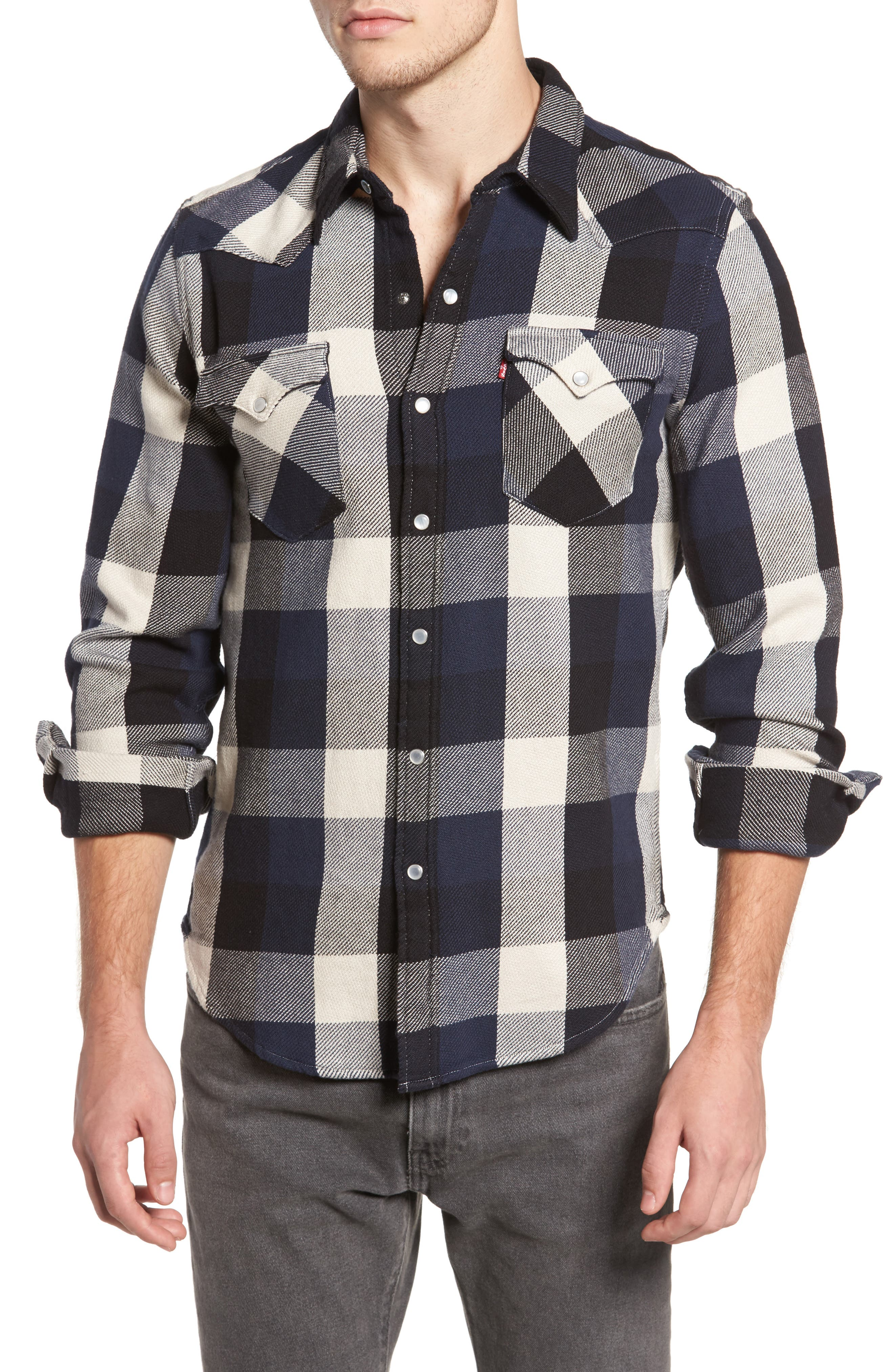 'Barstow' Denim Western Shirt,                             Main thumbnail 3, color,