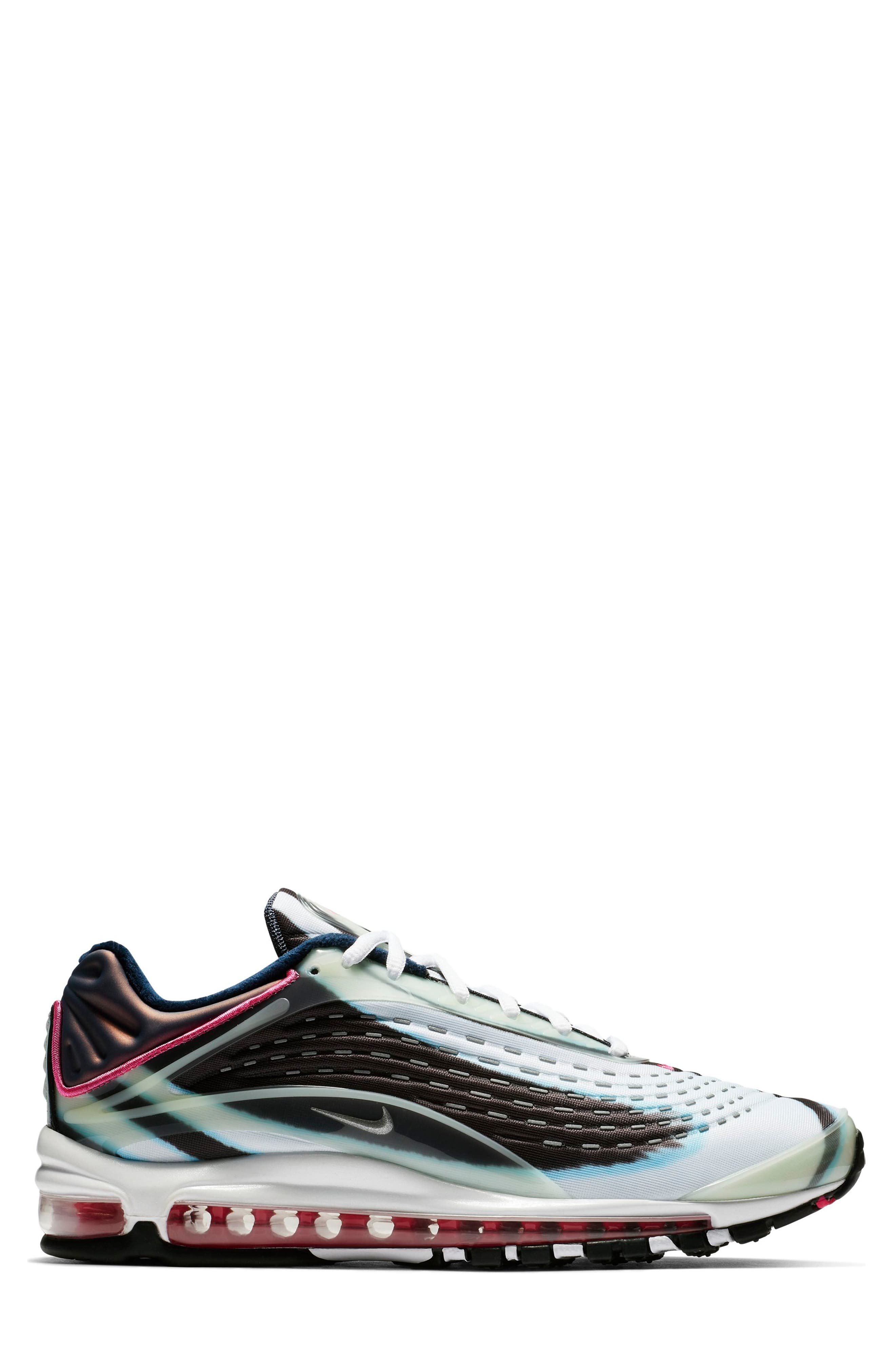 Air Max Deluxe Sneaker,                             Alternate thumbnail 3, color,                             GREEN/ SILVER/ OBSIDIAN/ BLACK
