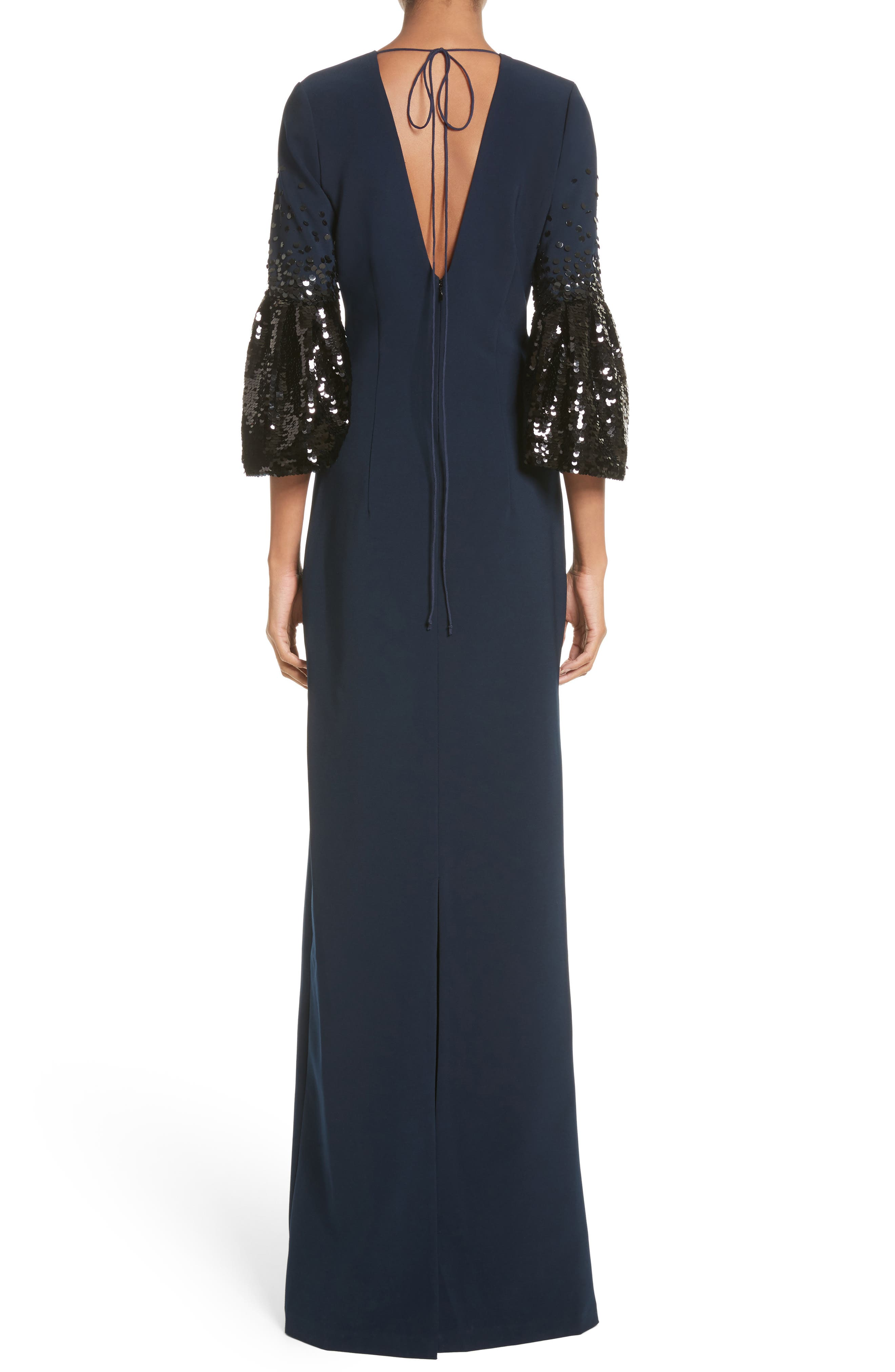 Noir Tower Embellished Sleeve Gown,                             Alternate thumbnail 2, color,                             410