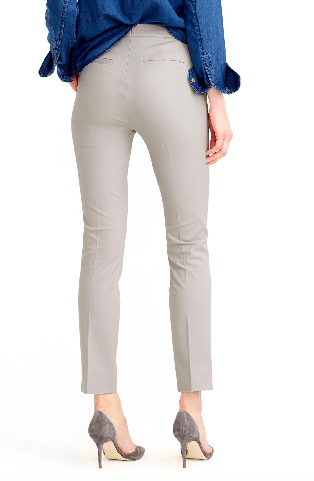 J.CREW,                             Martie Cotton Blend Pants,                             Alternate thumbnail 2, color,                             CLOUD GREY