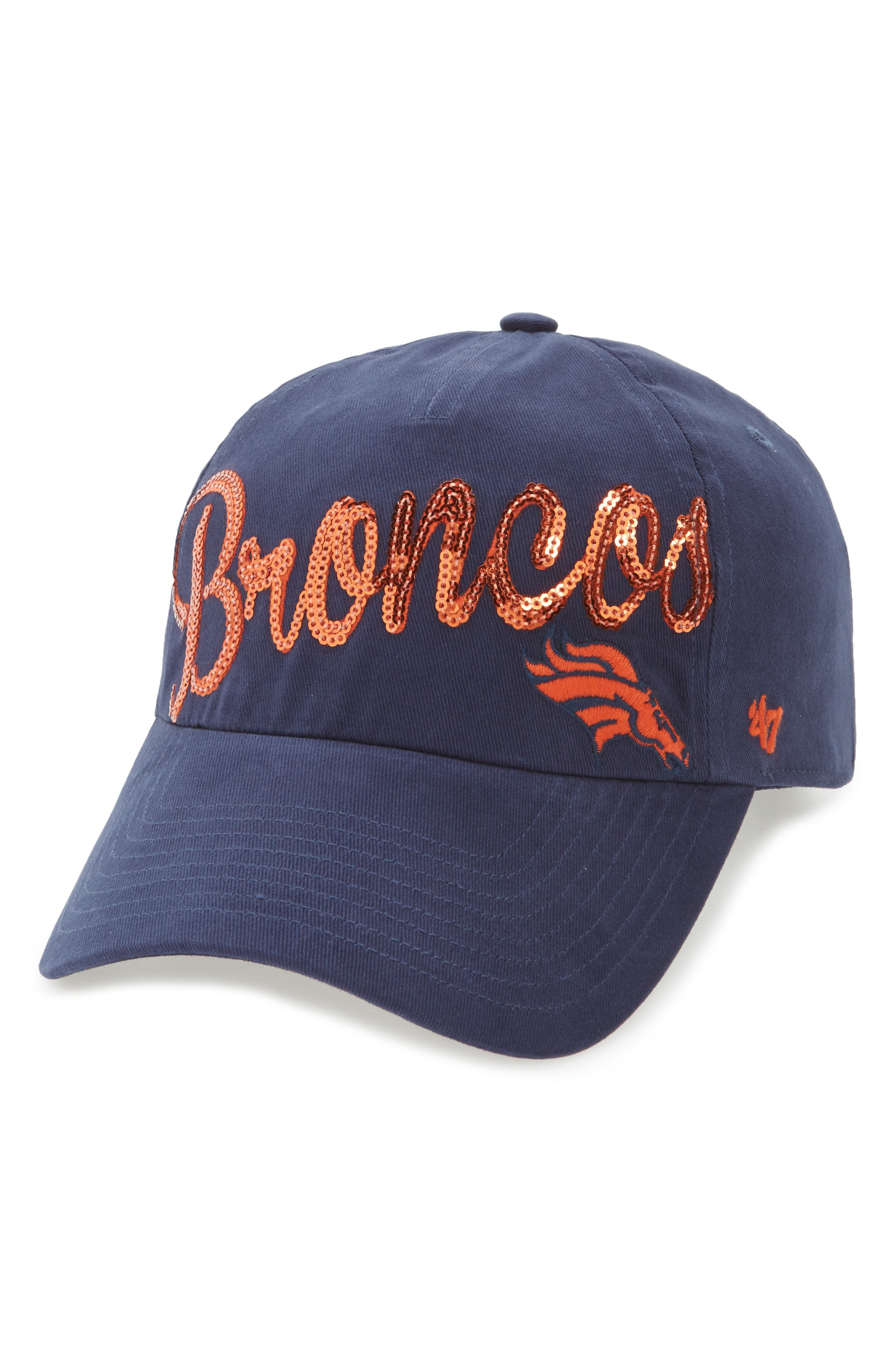 Denver Broncos Sparkle Cap,                             Main thumbnail 1, color,                             410