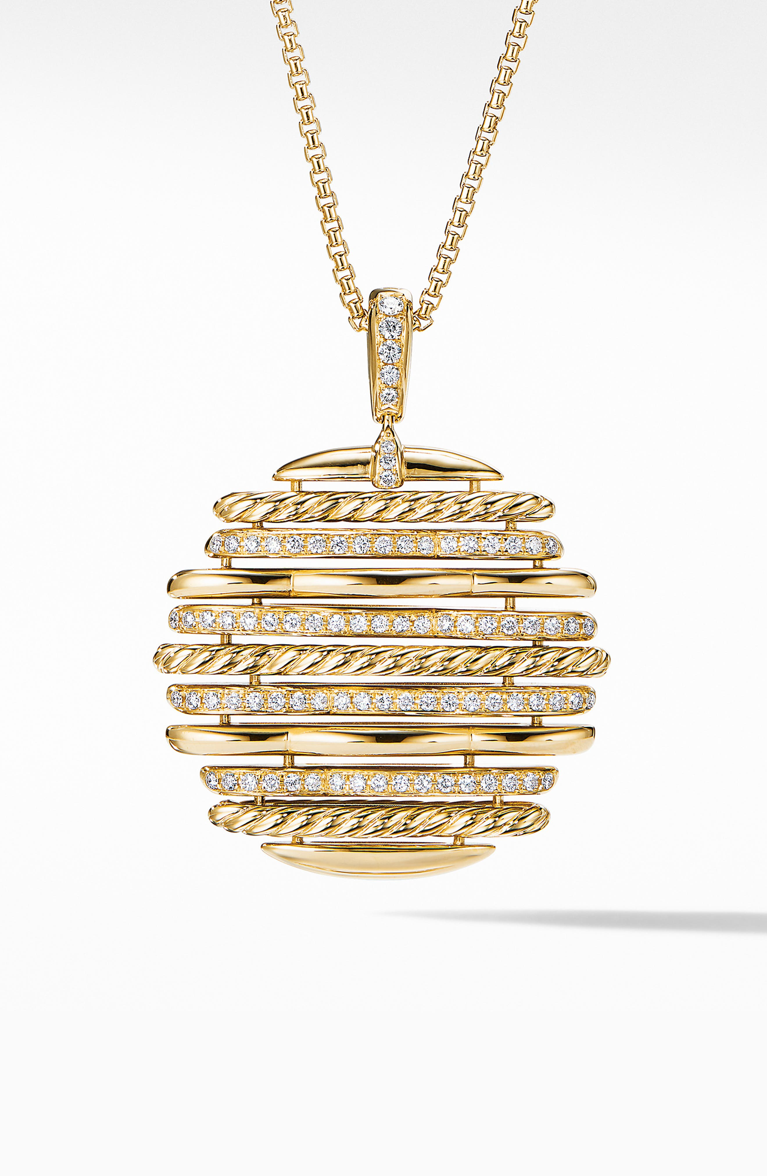 Tides Pendant Necklace in 18K Yellow Gold with Diamonds,                             Main thumbnail 1, color,                             GOLD/ DIAMOND