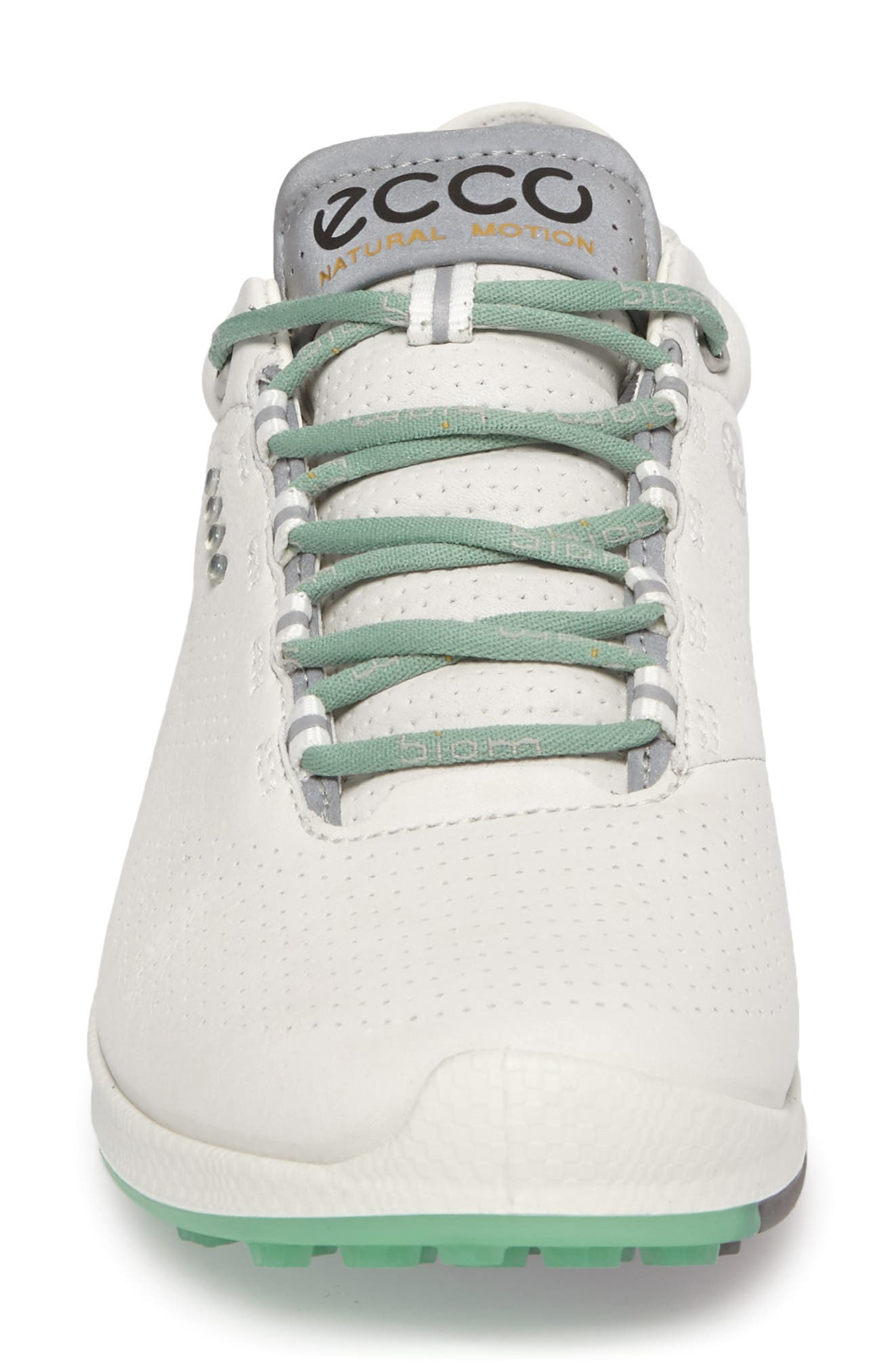 BIOM 2 Hybrid Water-Repellent Golf Shoe,                             Alternate thumbnail 4, color,                             WHITE/ GRANITE GREEN LEATHER
