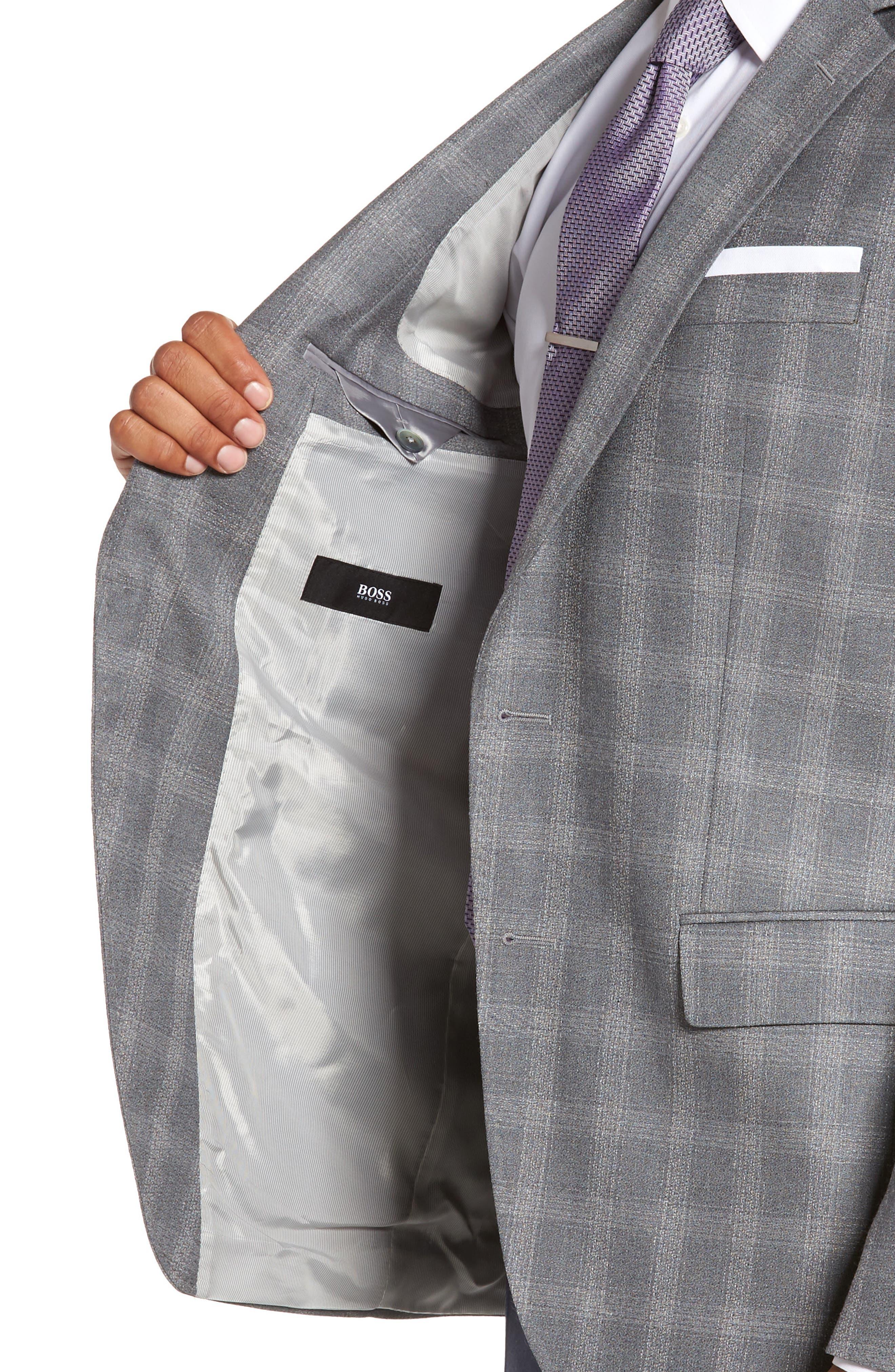 Hutsons Classic Fit Check Sport Coat,                             Alternate thumbnail 4, color,