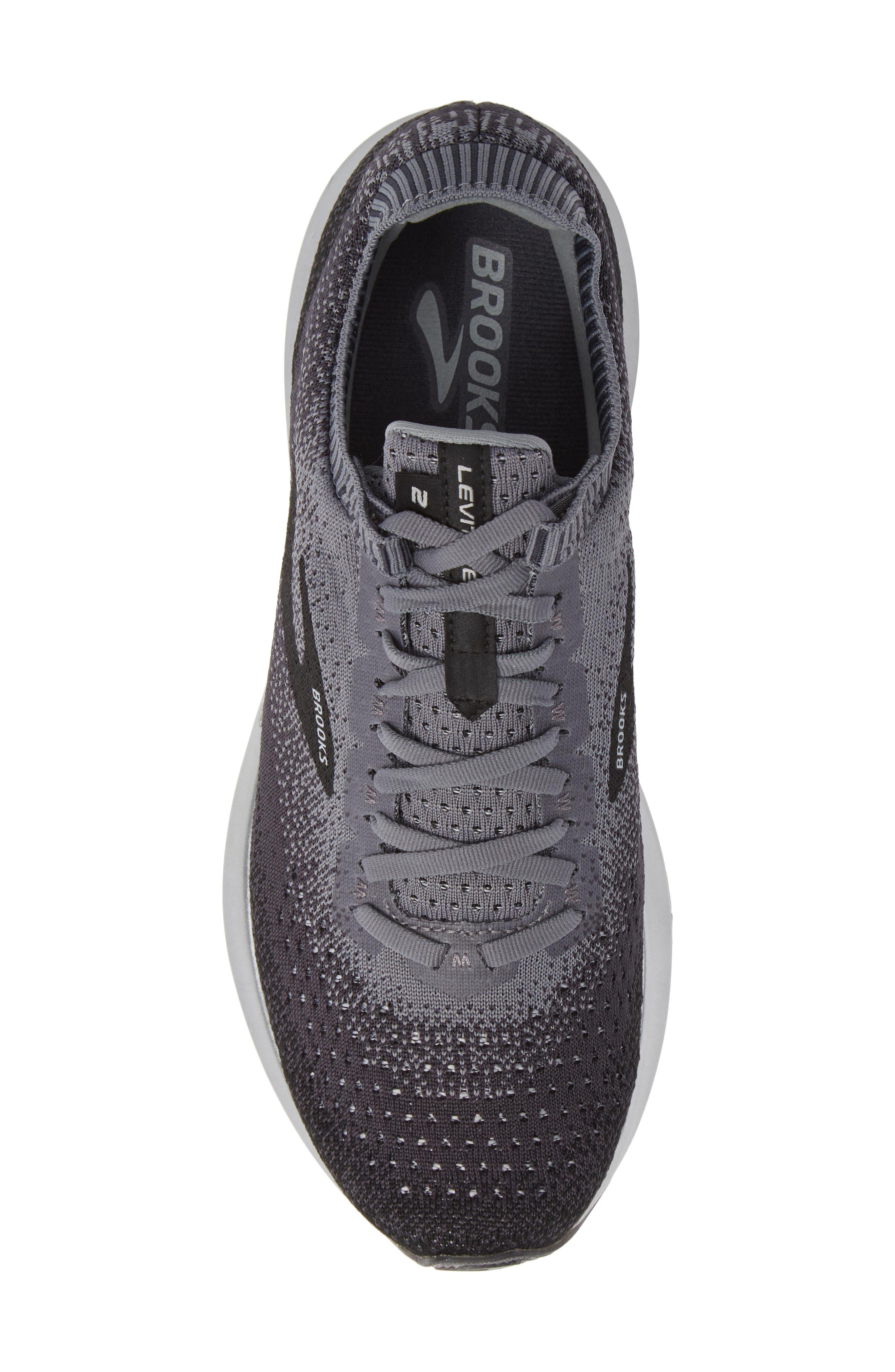 Levitate 2 Running Shoe,                             Alternate thumbnail 5, color,                             BLACK/ GREY/ EBONY