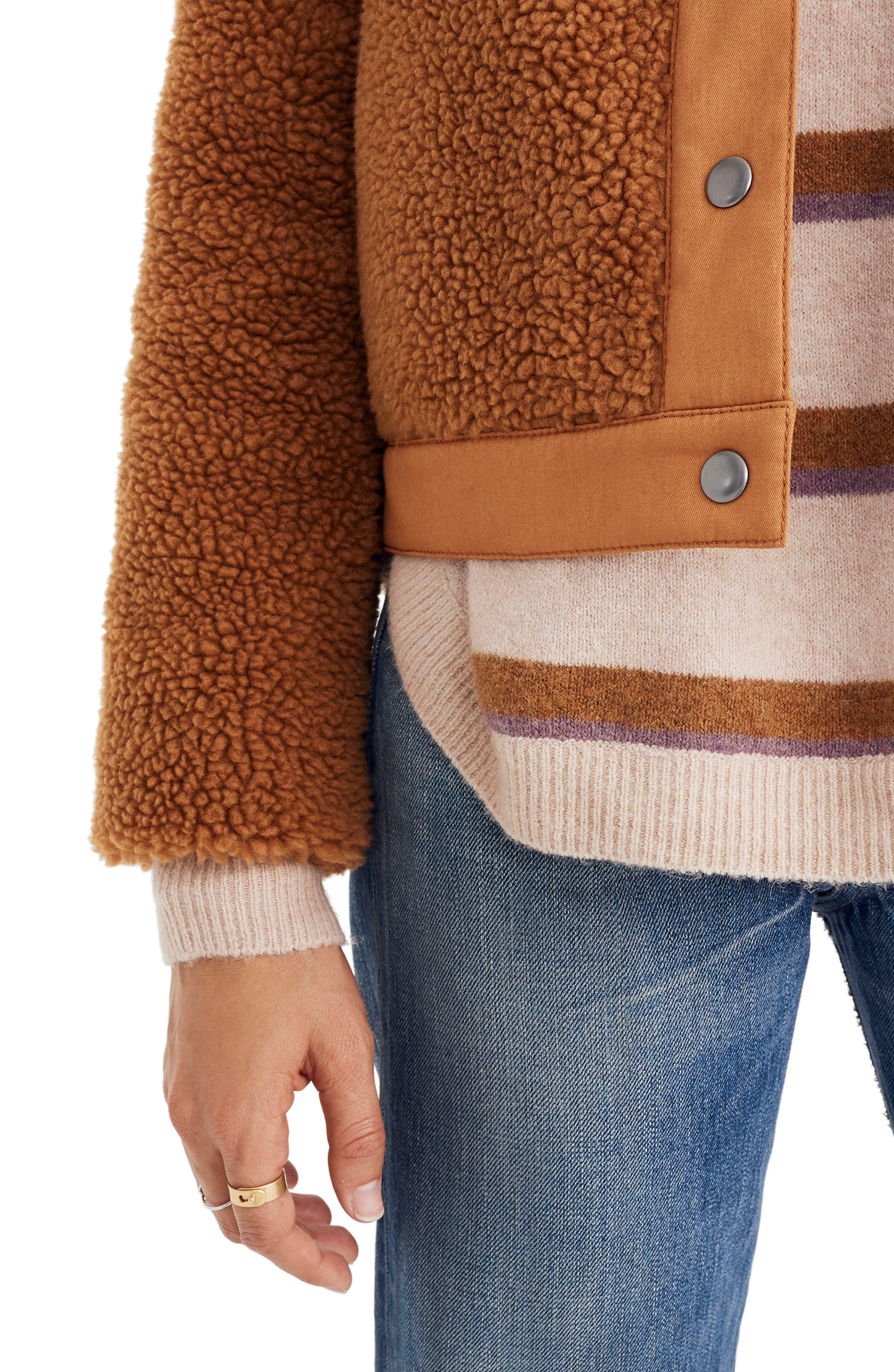 Portland Fleece Jacket,                             Alternate thumbnail 4, color,                             GOLDEN PECAN