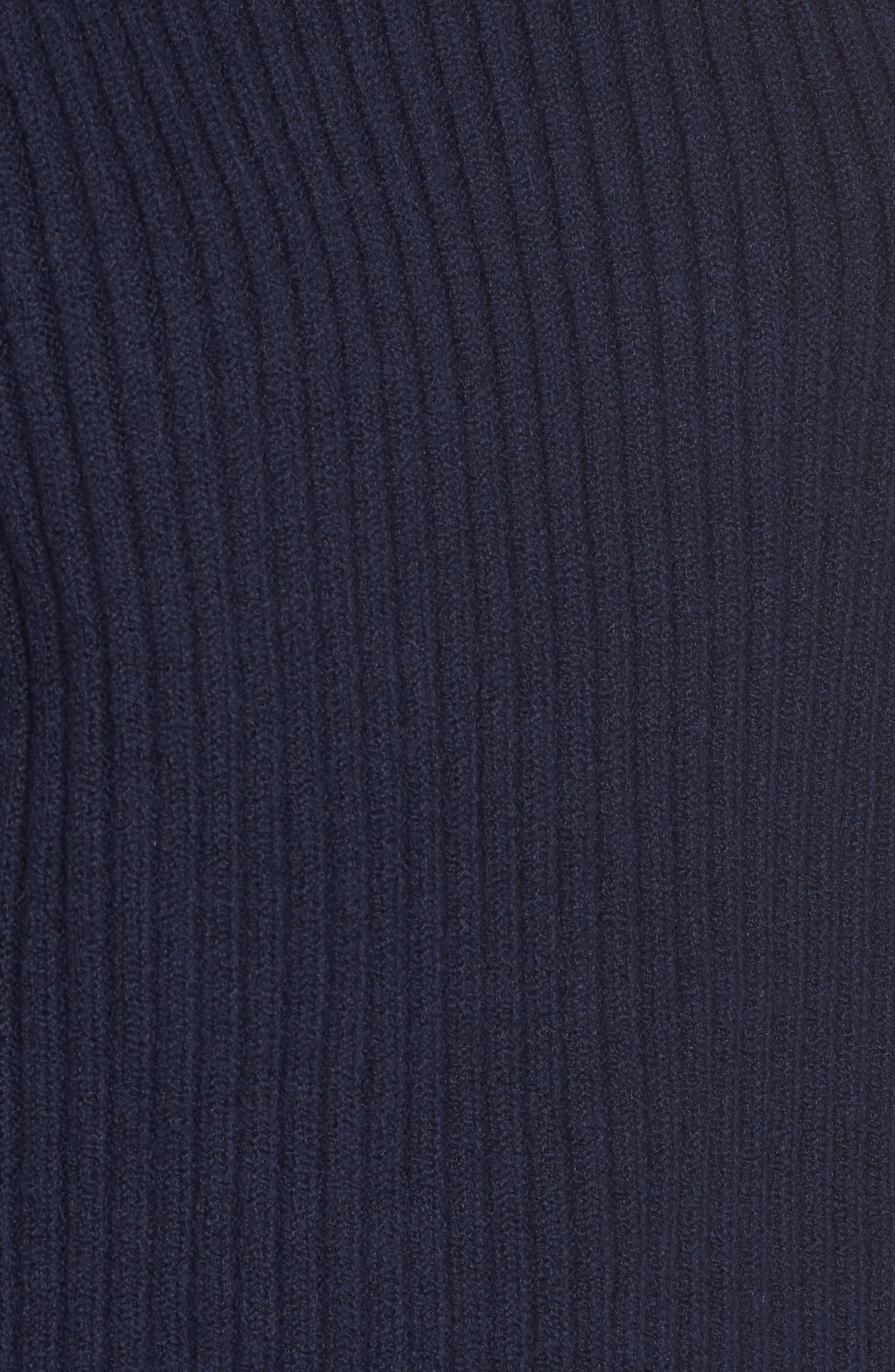 Quilted Sleeve Sweater,                             Alternate thumbnail 5, color,                             INDIGO