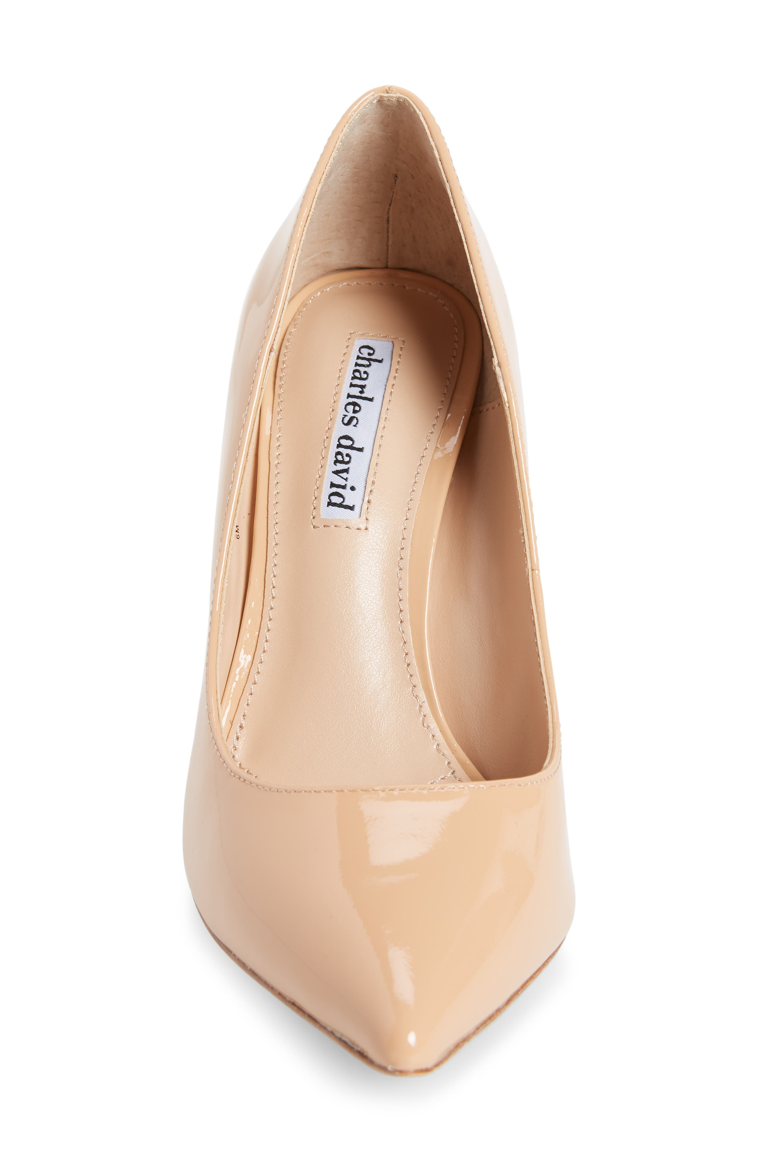 Calessi Pointy Toe Pump,                             Alternate thumbnail 4, color,                             PETAL PATENT LEATHER