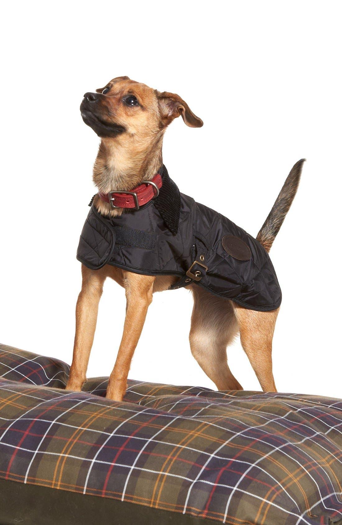 QuiltedTartan Dog Coat,                             Alternate thumbnail 2, color,                             001