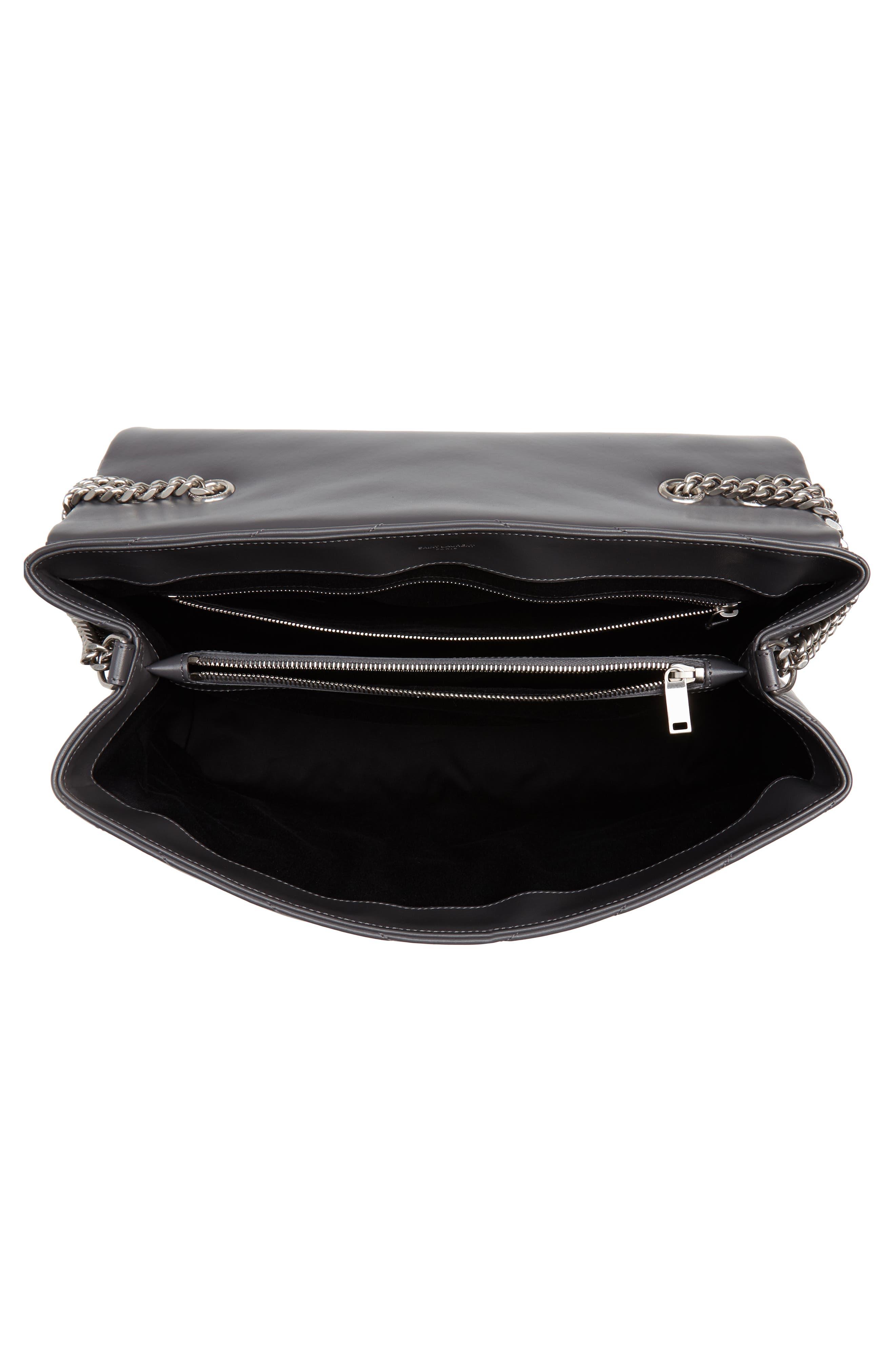 Large Loulou Matelassé Leather Shoulder Bag,                             Alternate thumbnail 4, color,                             STORM/ STORM