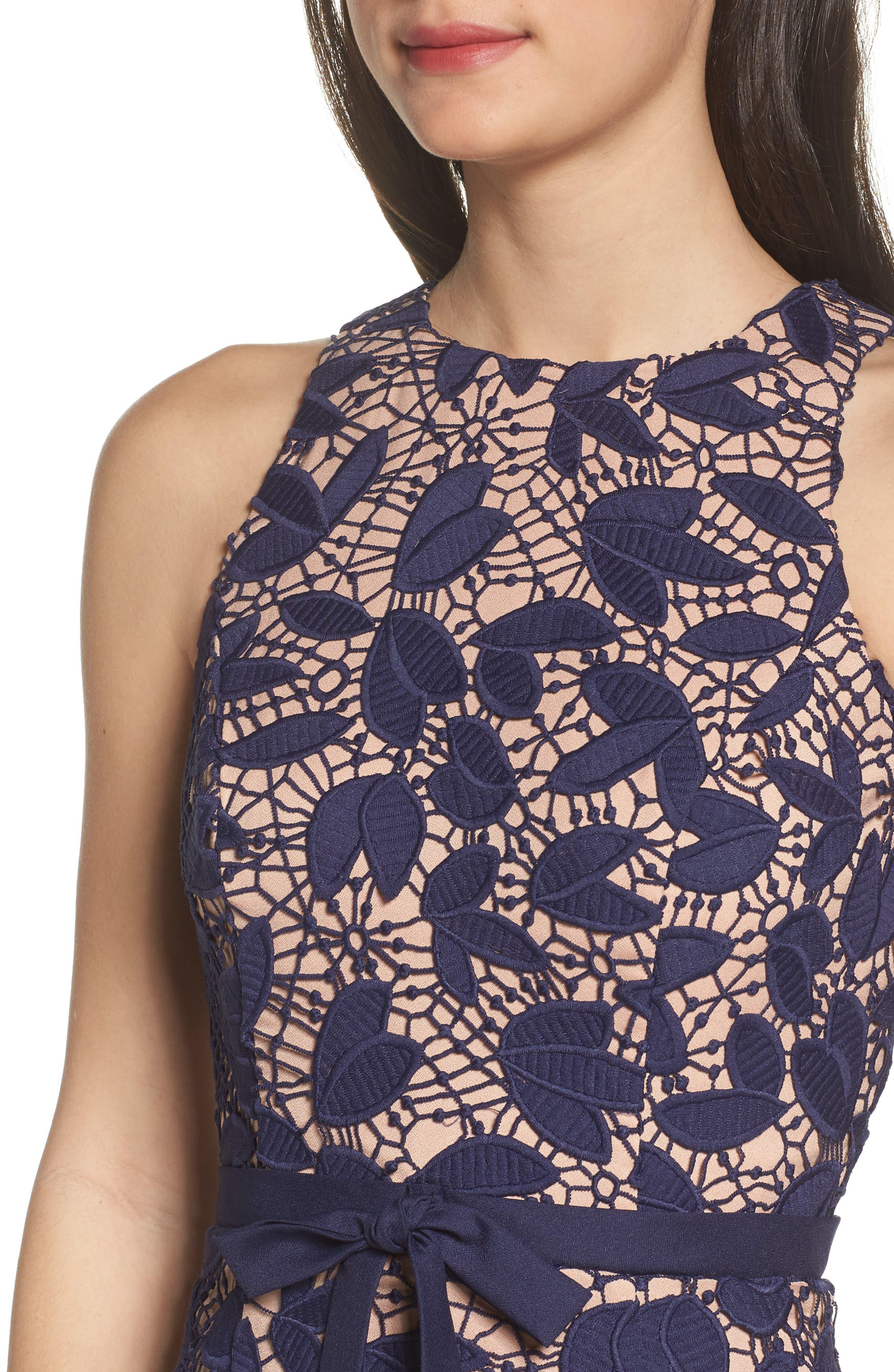 Petal Lace Gown,                             Alternate thumbnail 4, color,                             410