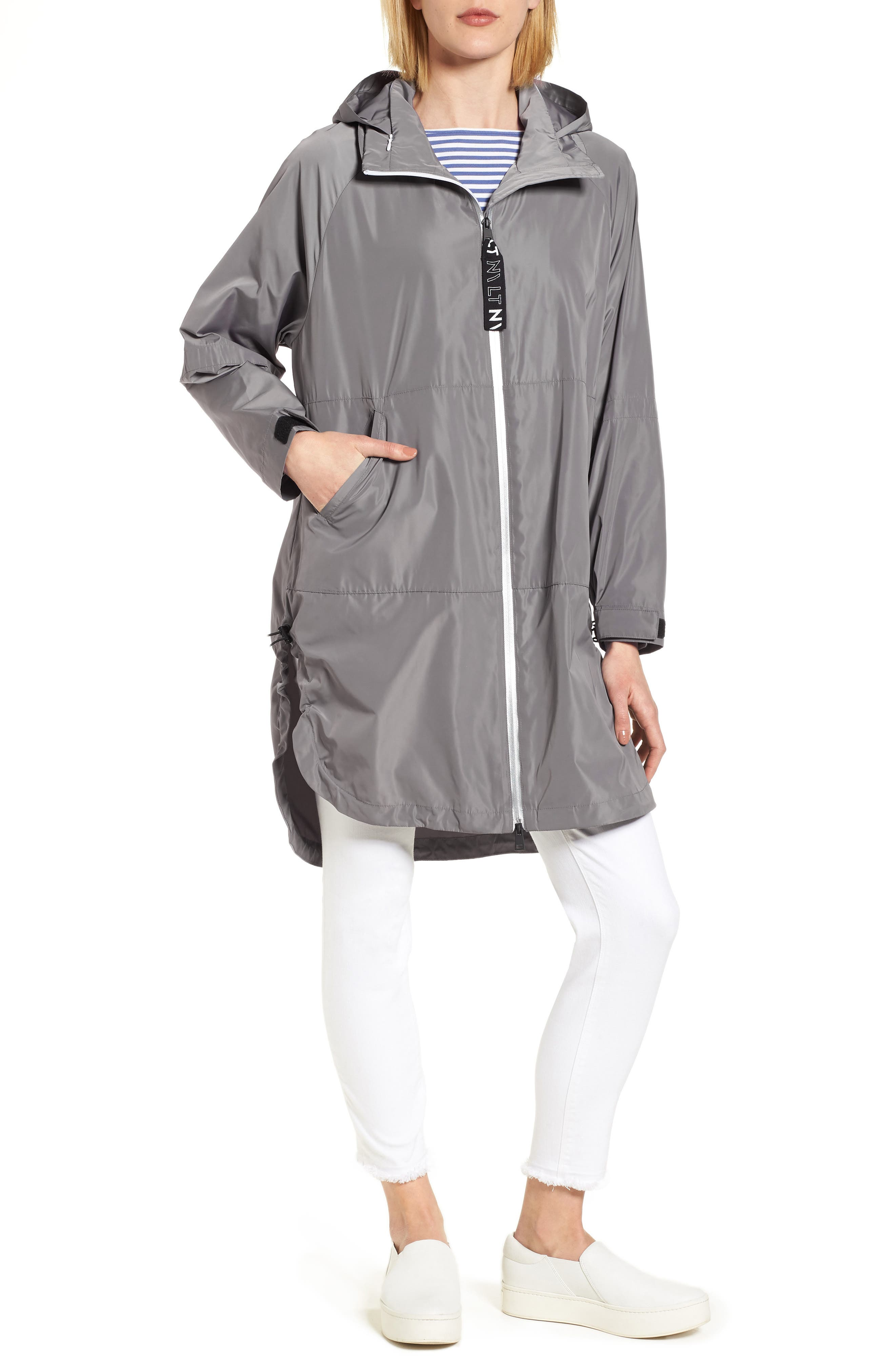 Poly-Luxe Packable Oversize Jacket,                             Main thumbnail 1, color,                             020