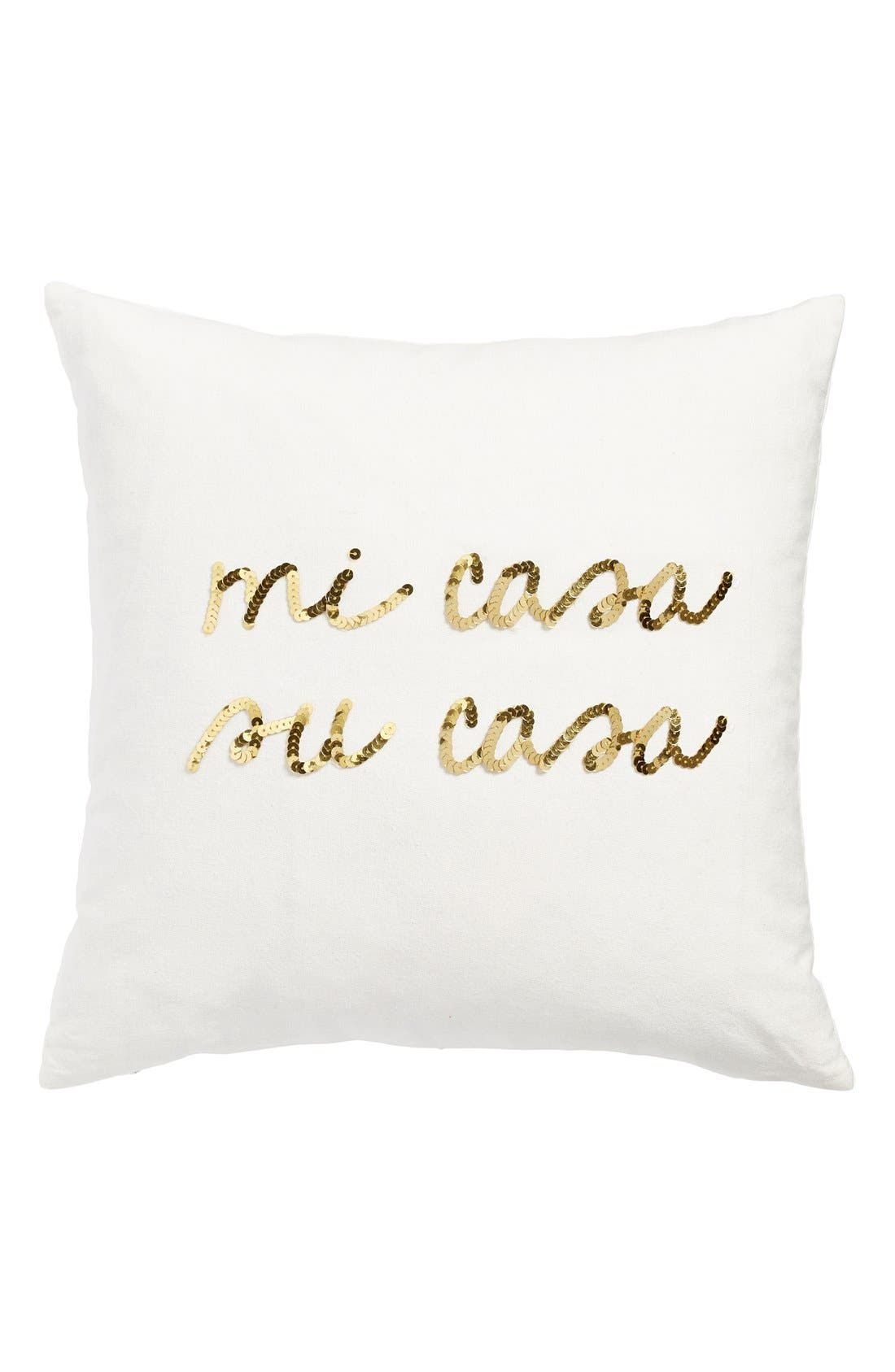 BOW & DRAPE,                             'Mi Casa, Su Casa' Pillow,                             Main thumbnail 1, color,                             900