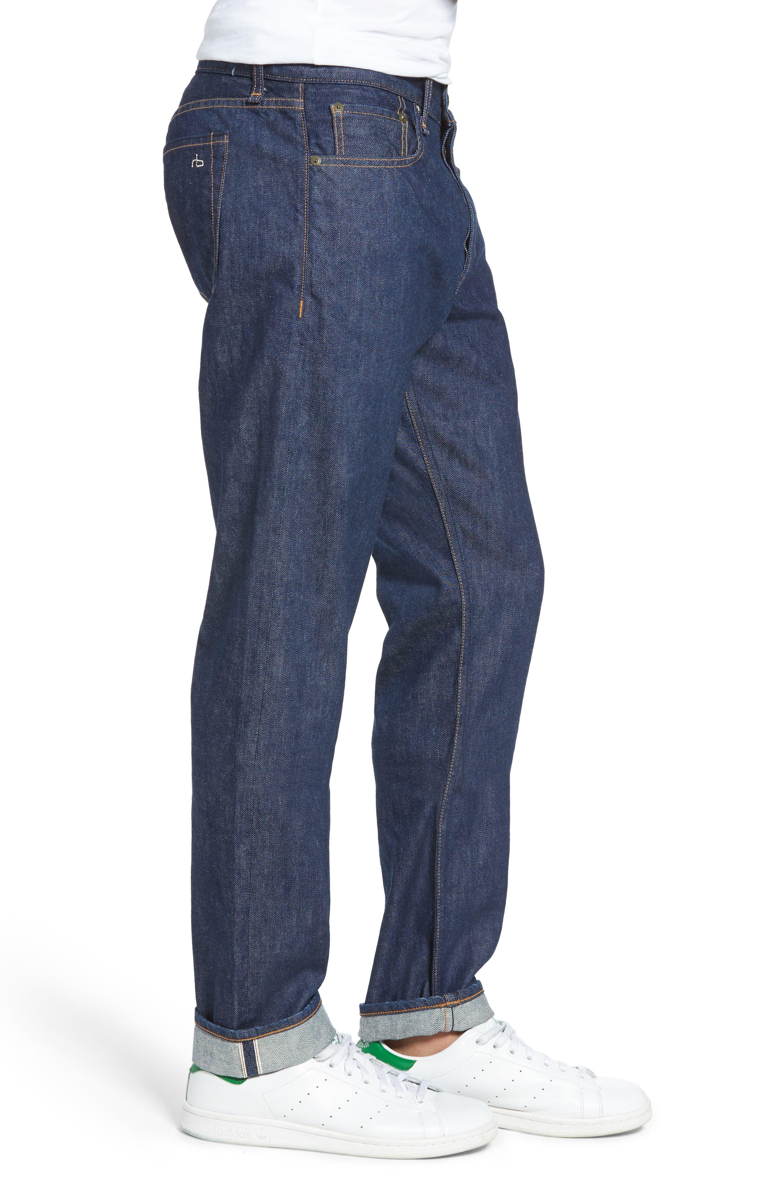 Fit 2 Slim Fit Selvedge Jeans,                             Alternate thumbnail 3, color,                             427