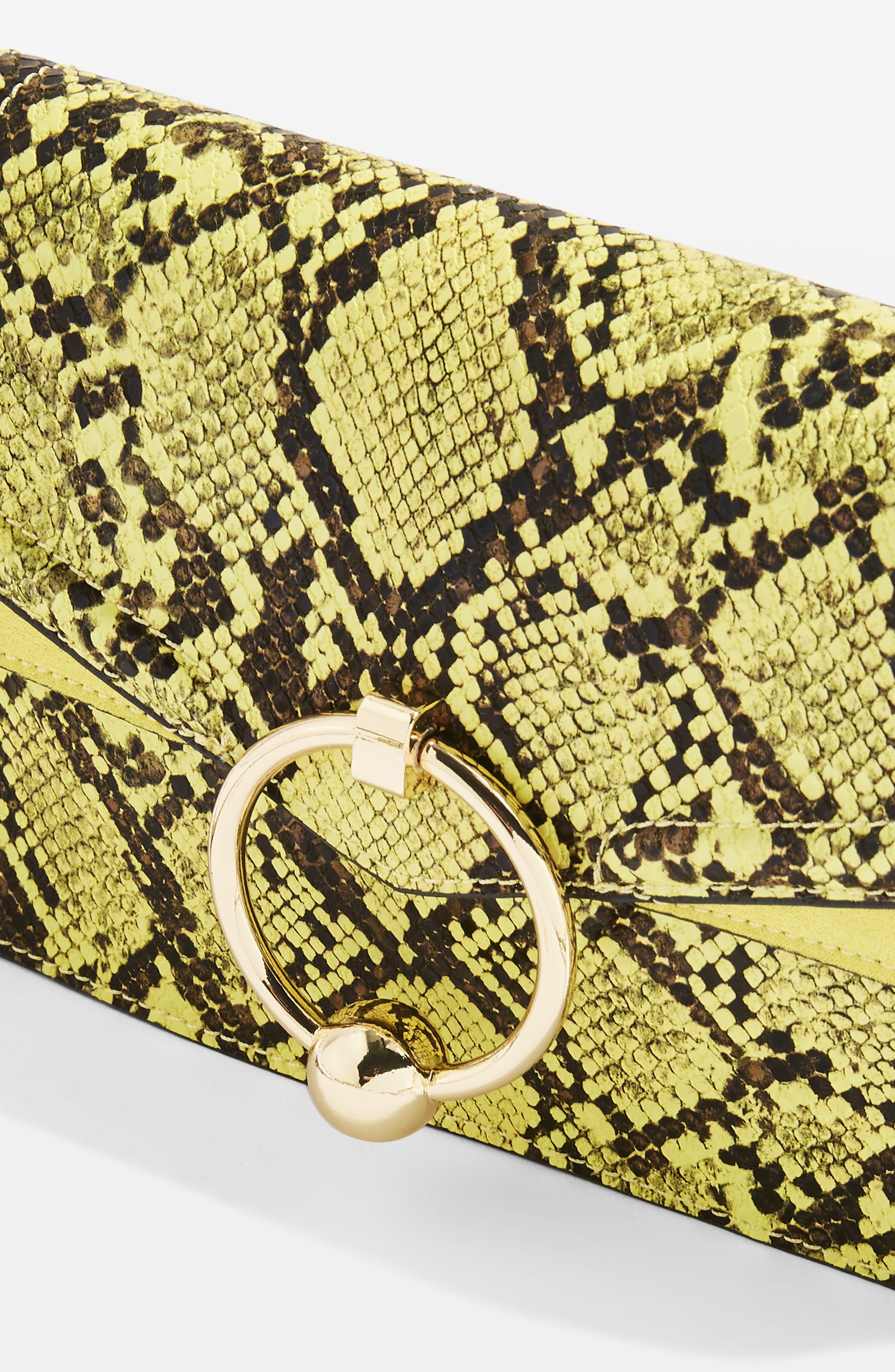 TOPSHOP,                             Selina Snake Effect Crossbody Bag,                             Alternate thumbnail 7, color,                             700