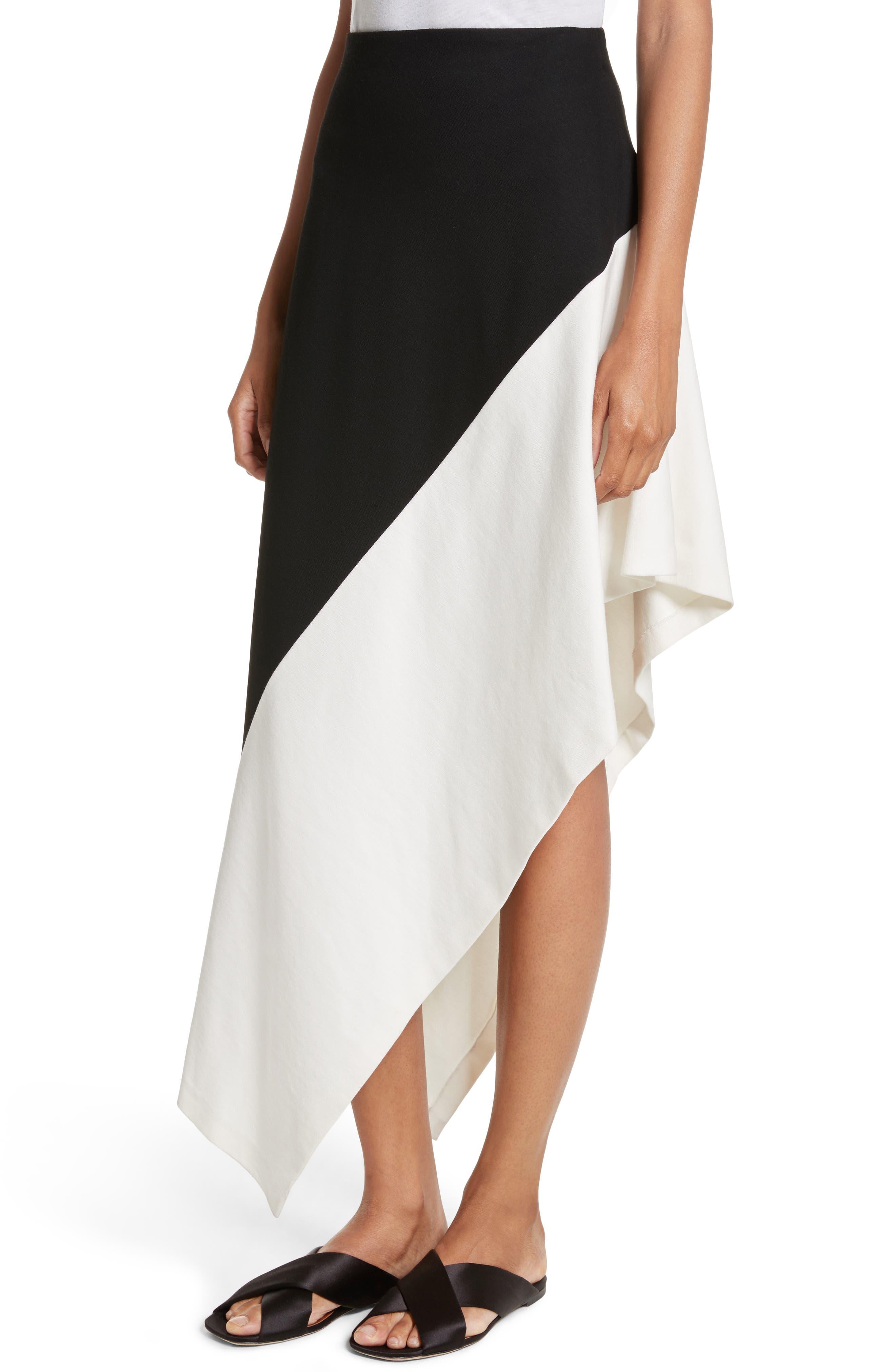 Slashed Panel Jersey Skirt,                             Alternate thumbnail 4, color,