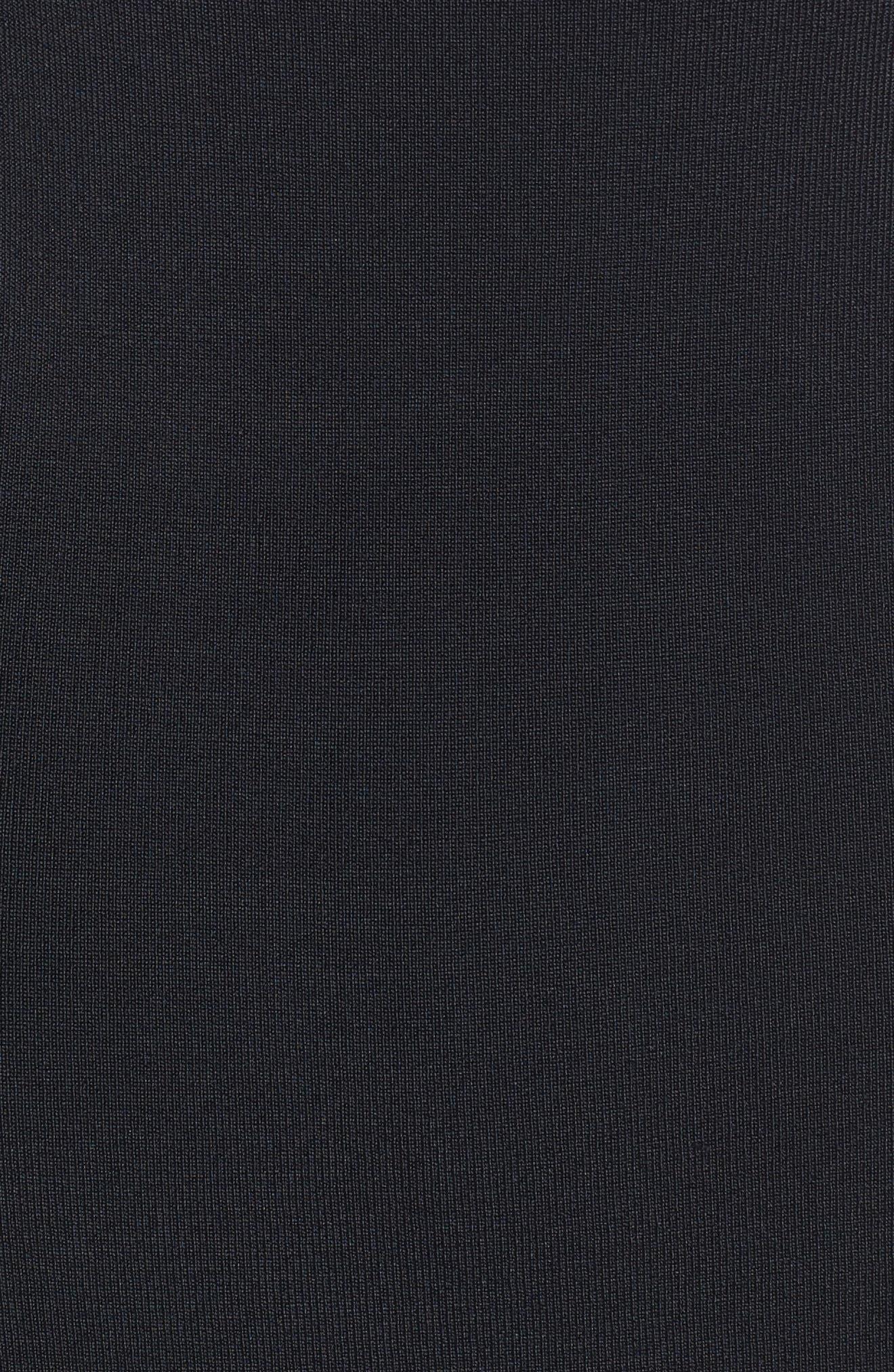 Bateau Neck Sweater Dress,                             Alternate thumbnail 5, color,                             001