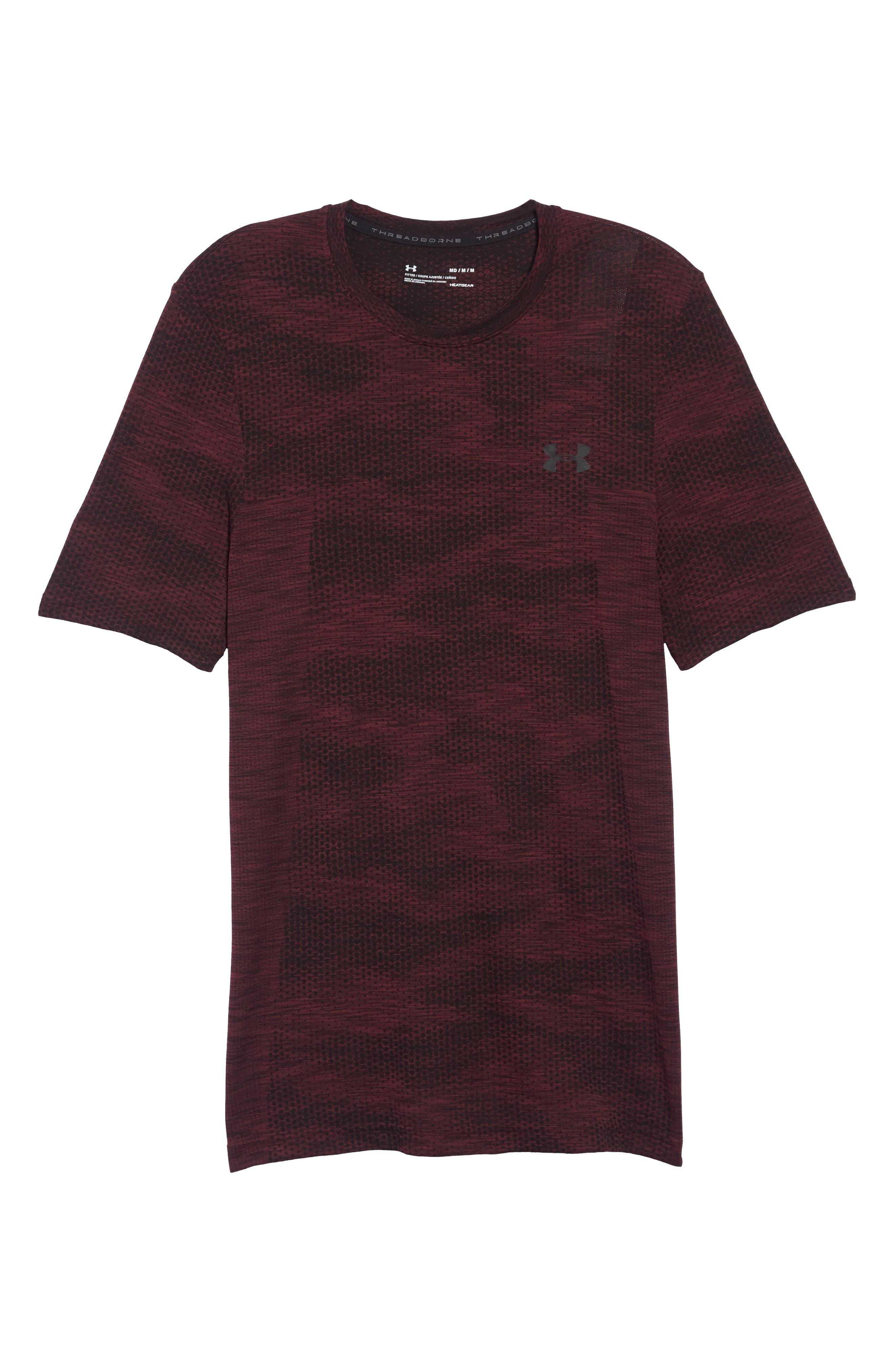 Siphon Camo Print Performance T-Shirt,                             Alternate thumbnail 6, color,                             DARK MAROON