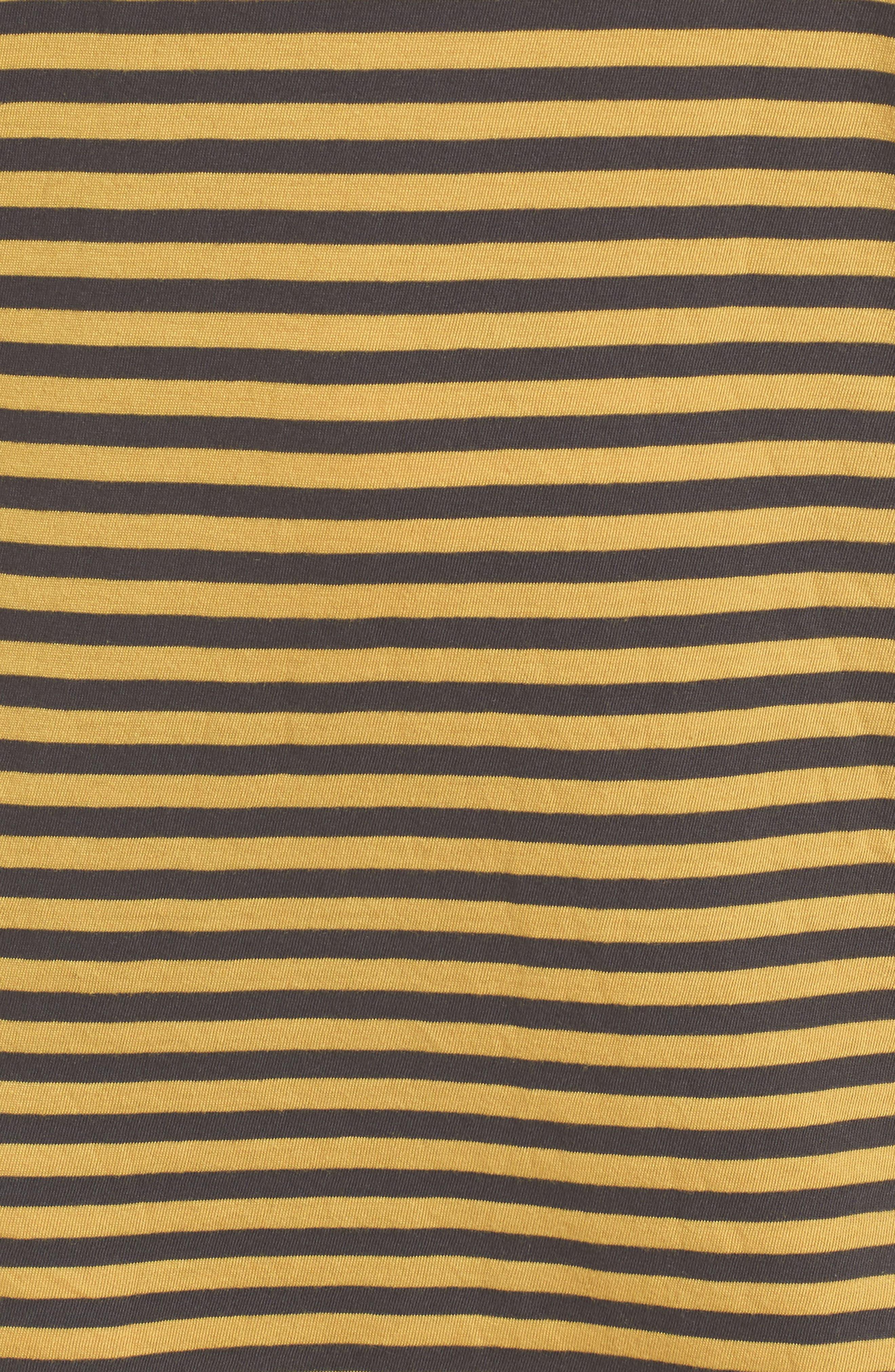 Mustard Stripe T-Shirt Dress,                             Alternate thumbnail 5, color,                             020