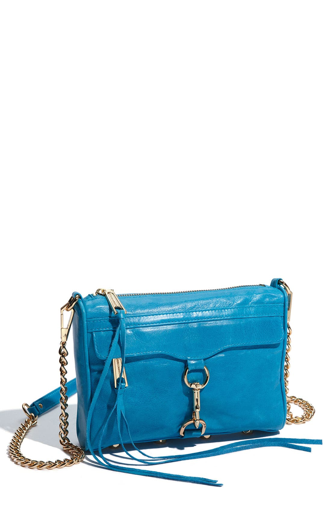 'Mini MAC' Croc Embossed Convertible Crossbody Bag,                             Main thumbnail 14, color,