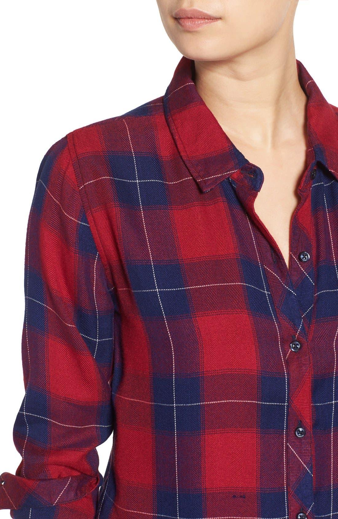 Hunter Plaid Shirt,                             Alternate thumbnail 537, color,