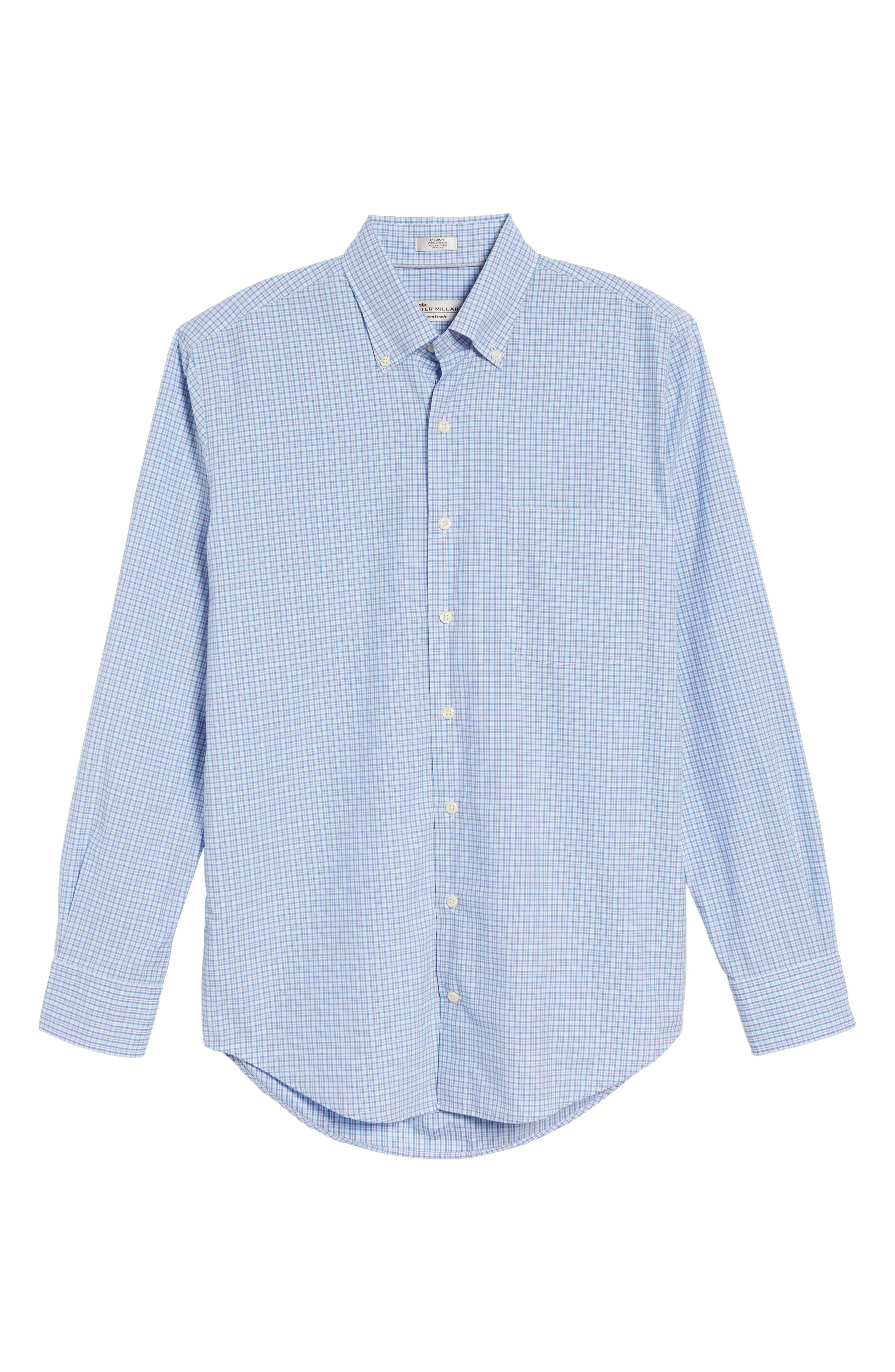 Crown Finish Regular Fit Check Sport Shirt,                             Alternate thumbnail 12, color,