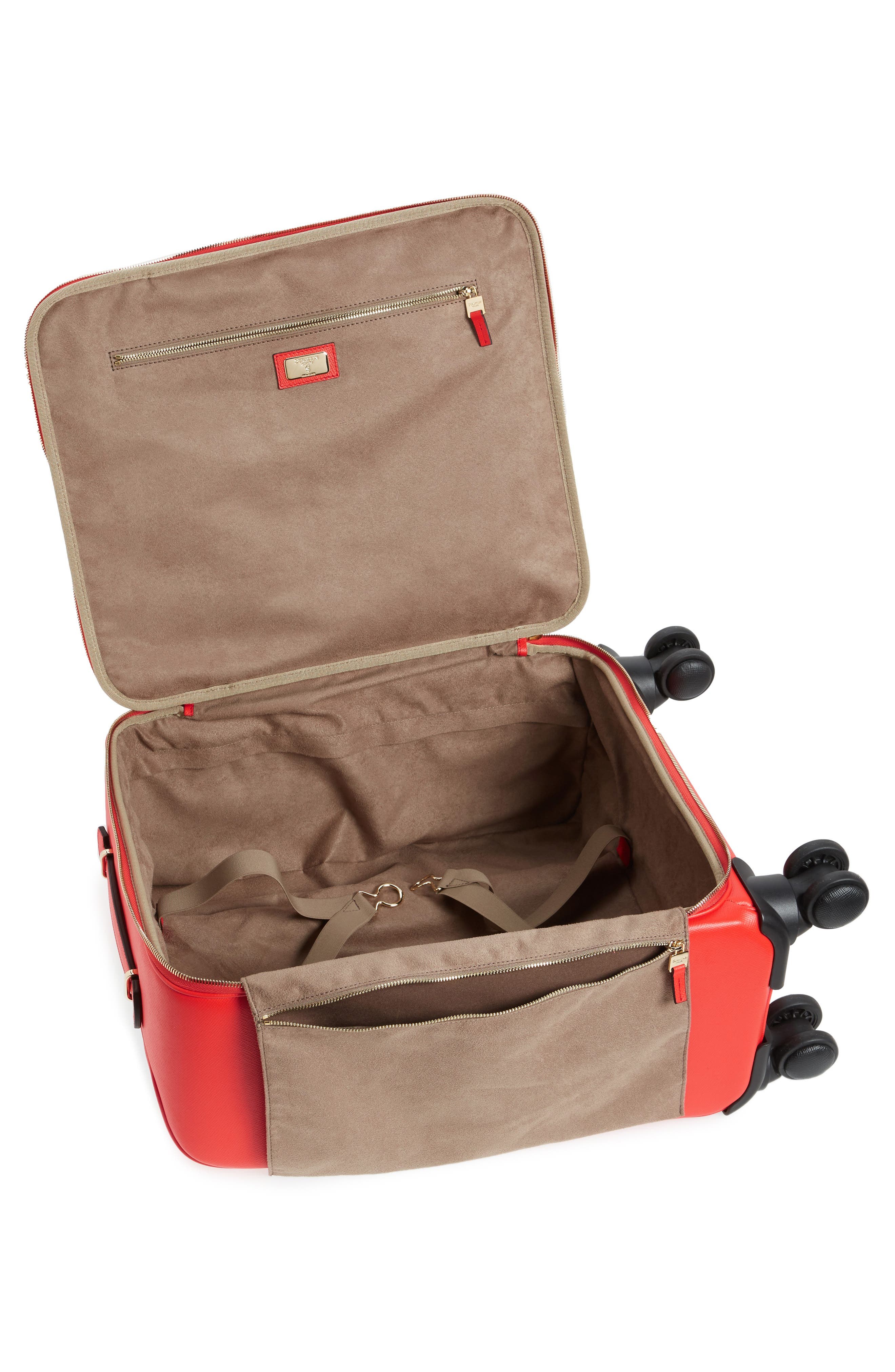 Trolley Spinner Wheeled Carry-On Suitcase,                             Alternate thumbnail 9, color,
