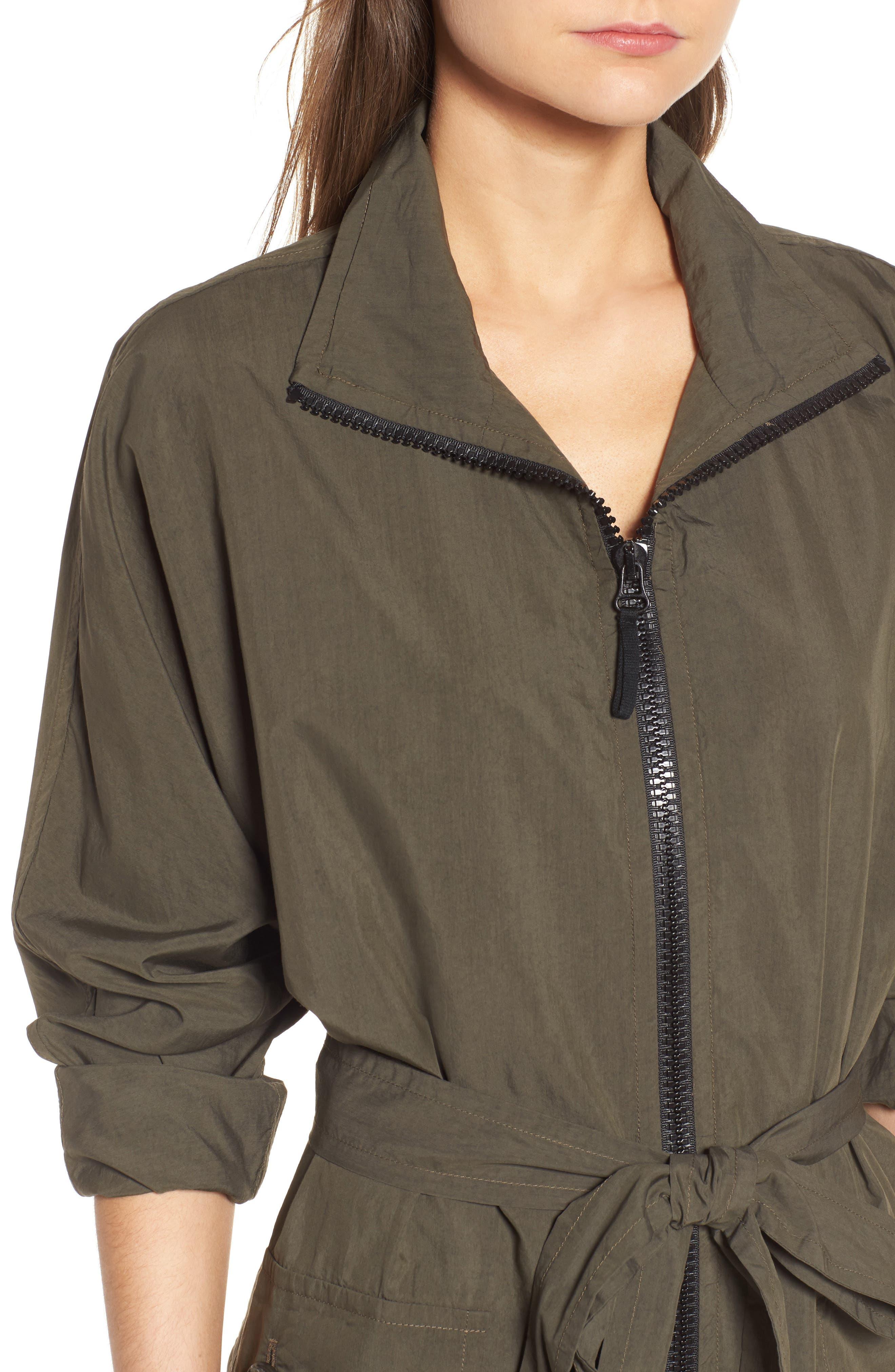 Zip Front Jacket Dress,                             Alternate thumbnail 4, color,                             303