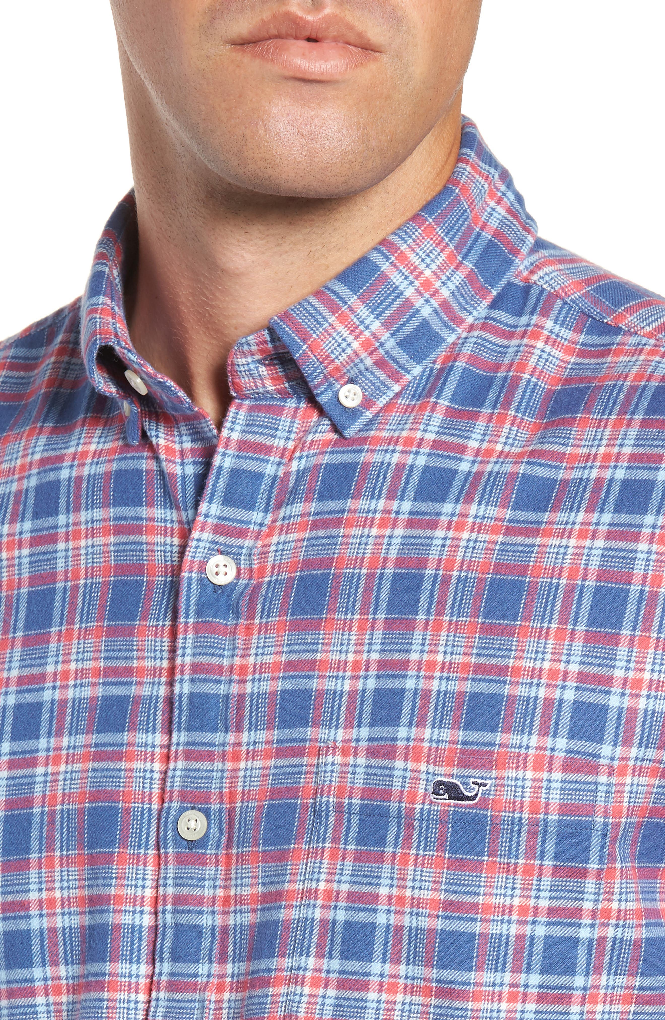 VINEYARD VINES,                             Lockwood Regular Fit Plaid Flannel Shirt,                             Alternate thumbnail 2, color,                             463
