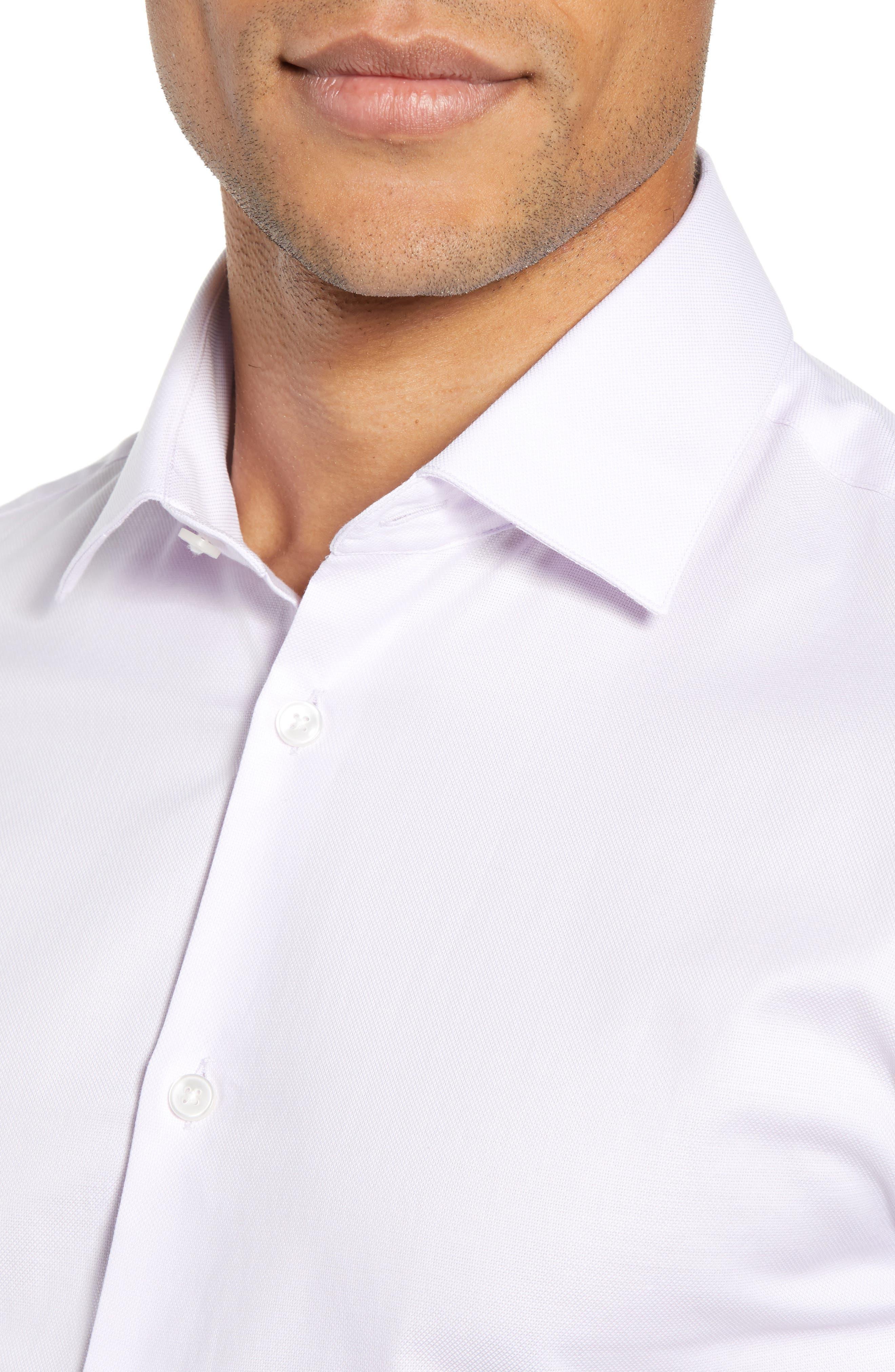 Slim Fit Check Dress Shirt,                             Alternate thumbnail 2, color,                             PINK HAZE