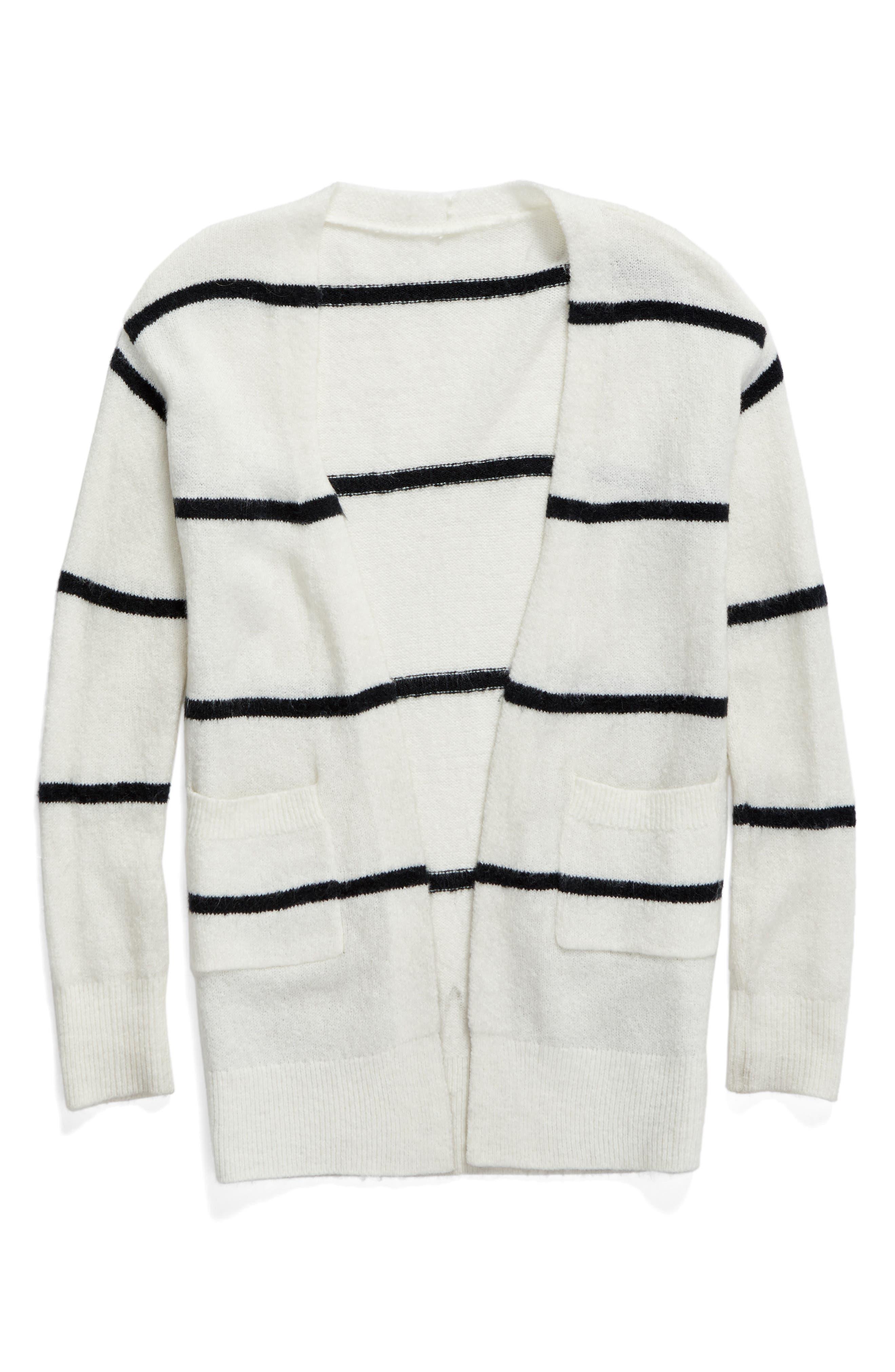 Open Stripe Cardigan, Main, color, 900