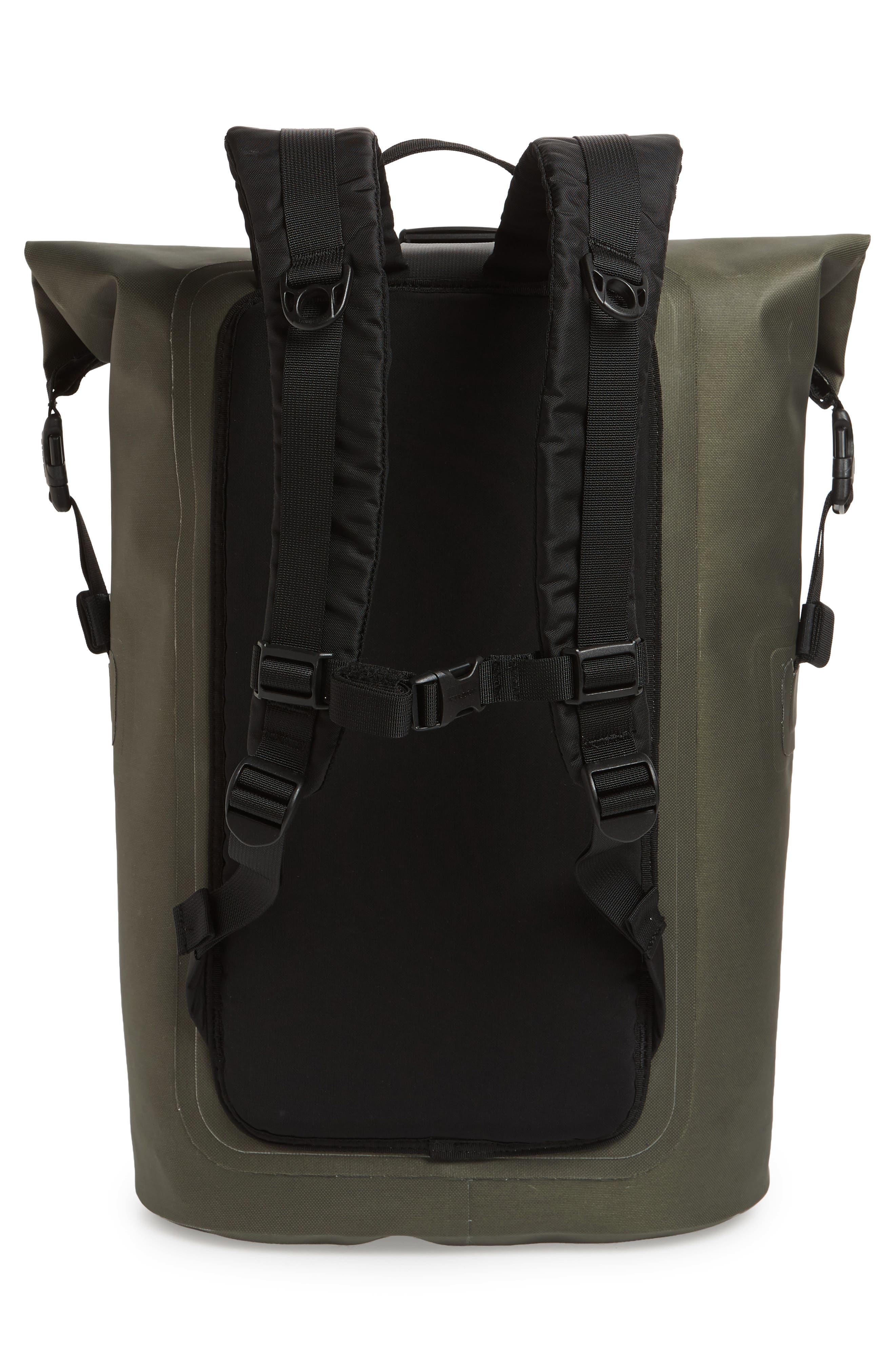Dry Waterproof Backpack,                             Alternate thumbnail 3, color,                             GREEN