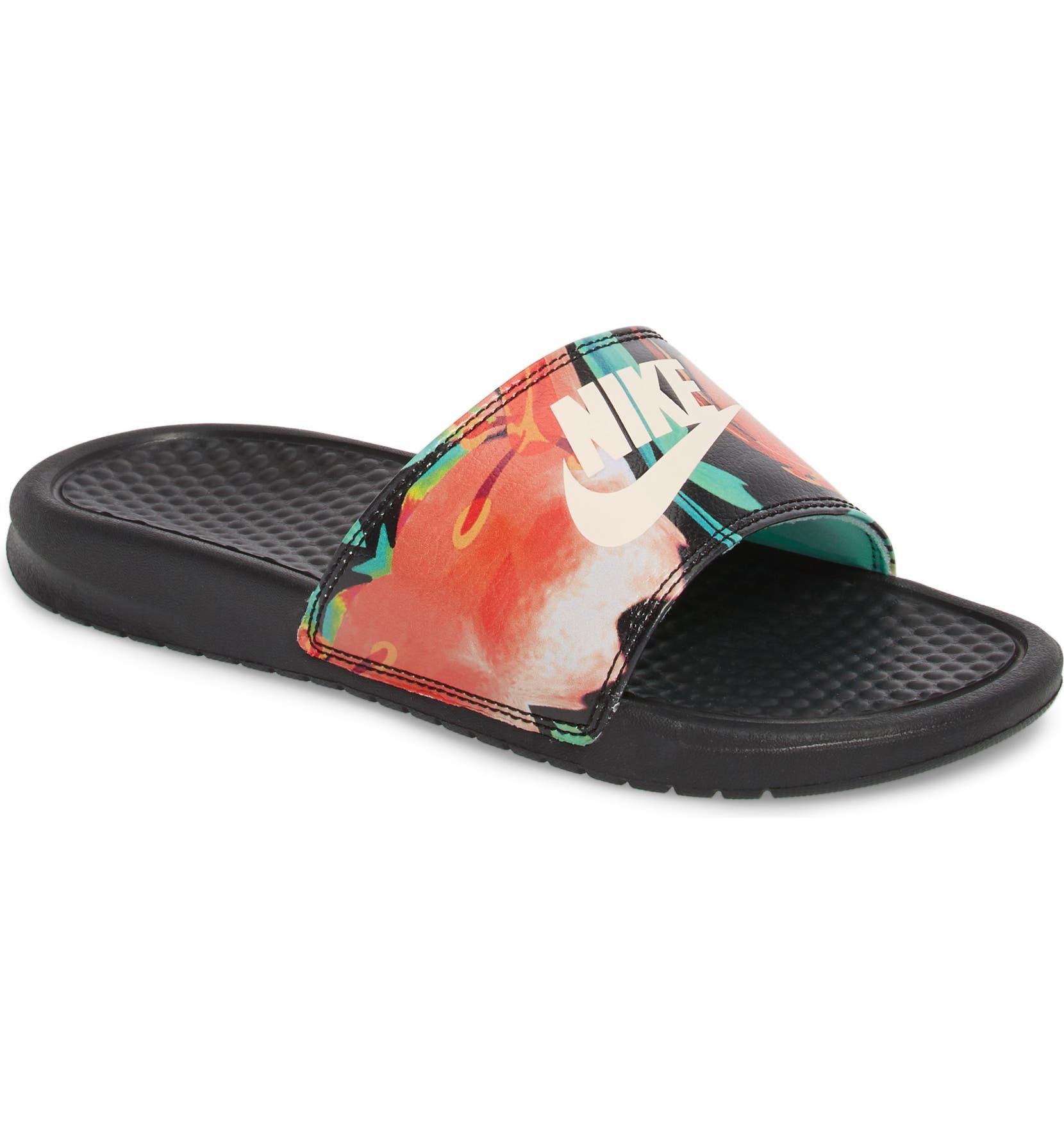 Nike  Benassi - Just Do It  Print Sandal (Women)  3141b4440