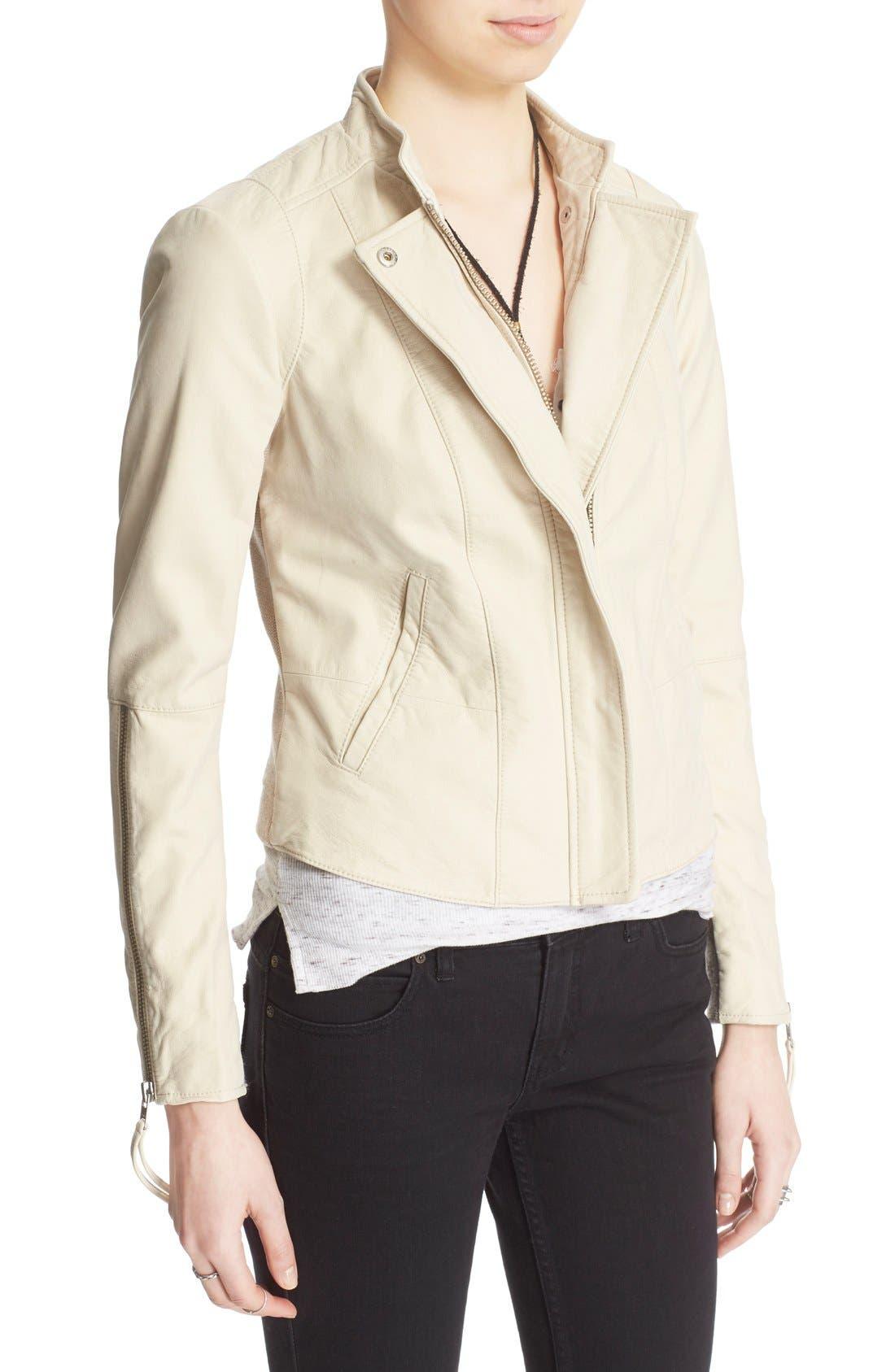 Faux Leather Jacket,                             Alternate thumbnail 31, color,