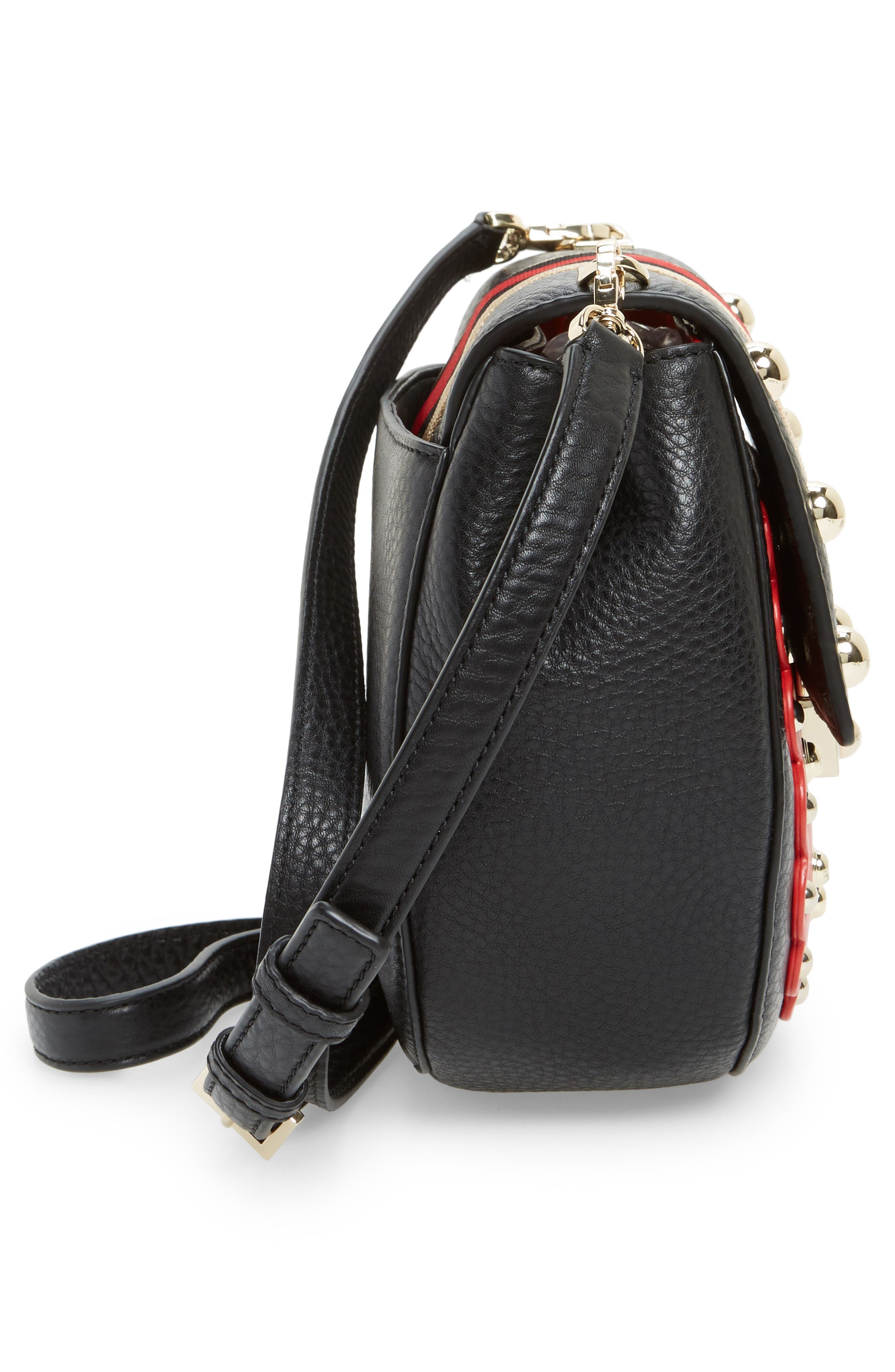 madison stewart street - byrdie studded leather satchel,                             Alternate thumbnail 5, color,                             631