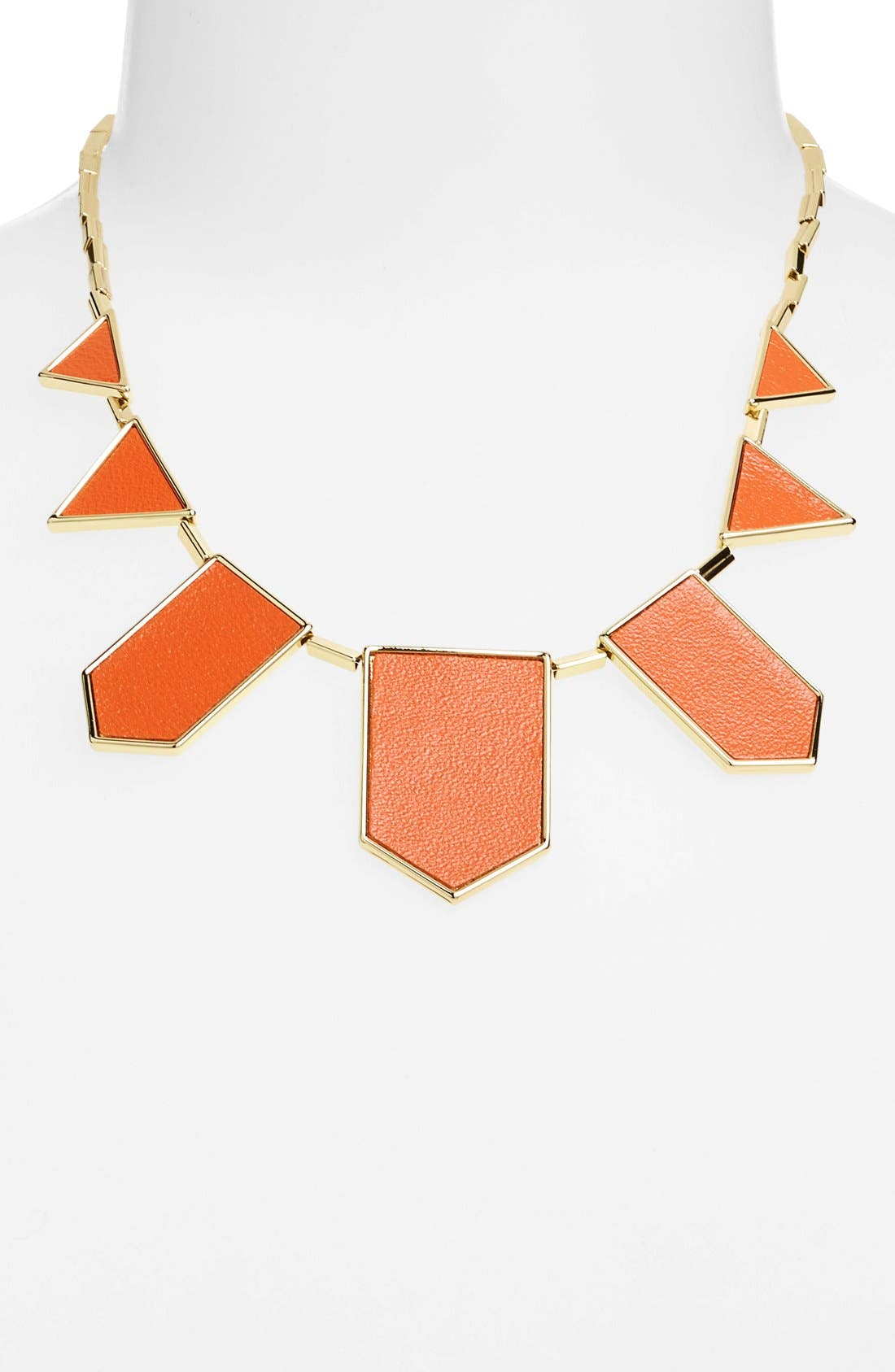 Leather Station Necklace,                             Alternate thumbnail 24, color,