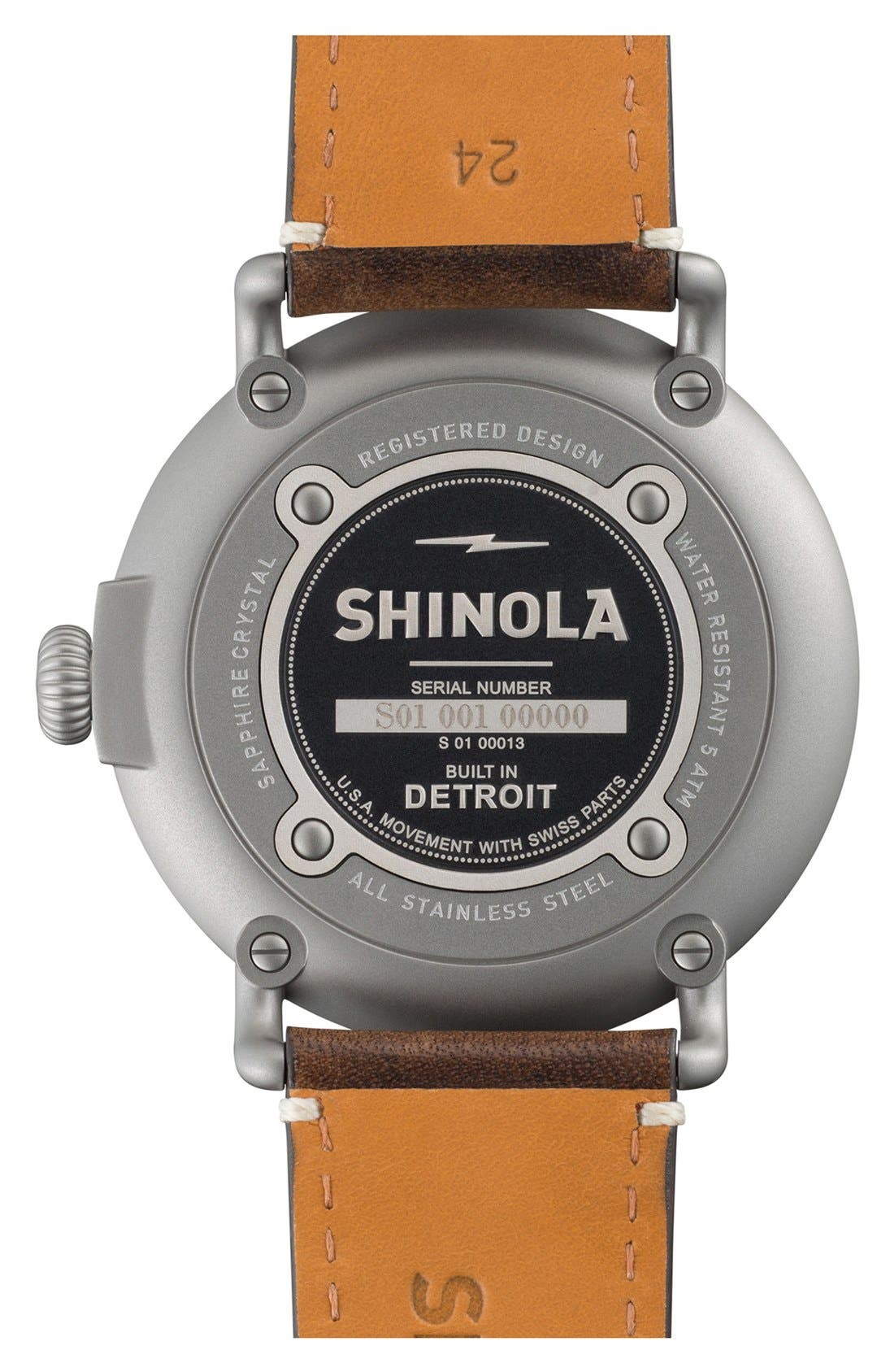'The Runwell' Leather Strap Watch, 47mm,                             Alternate thumbnail 37, color,