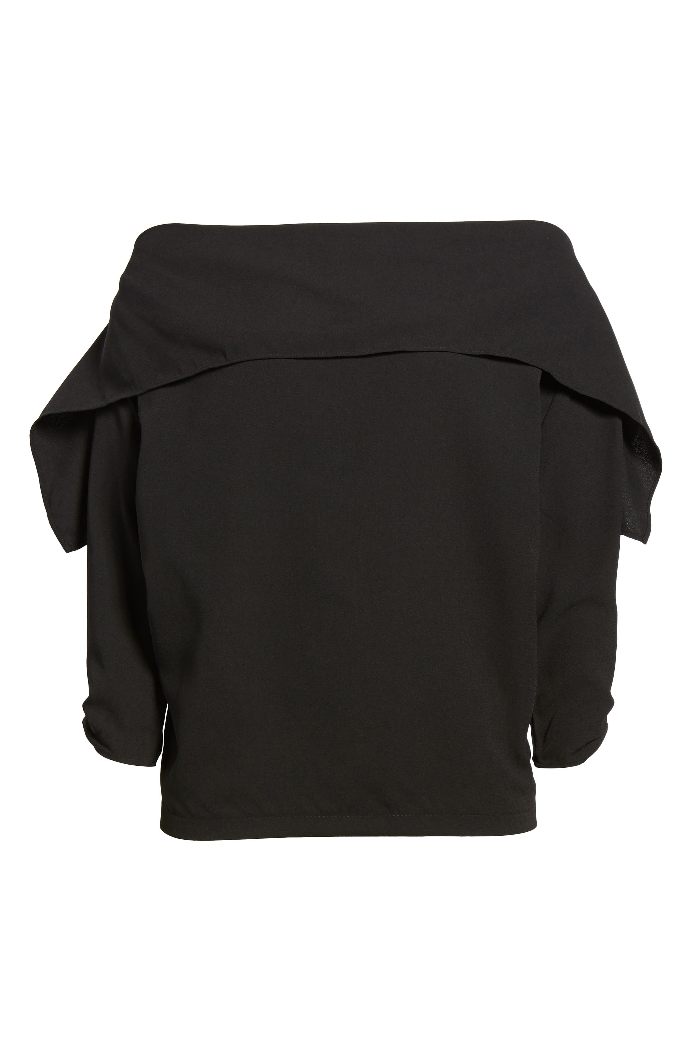 The Picture Perfect Off the Shoulder Blouse,                             Alternate thumbnail 6, color,                             001