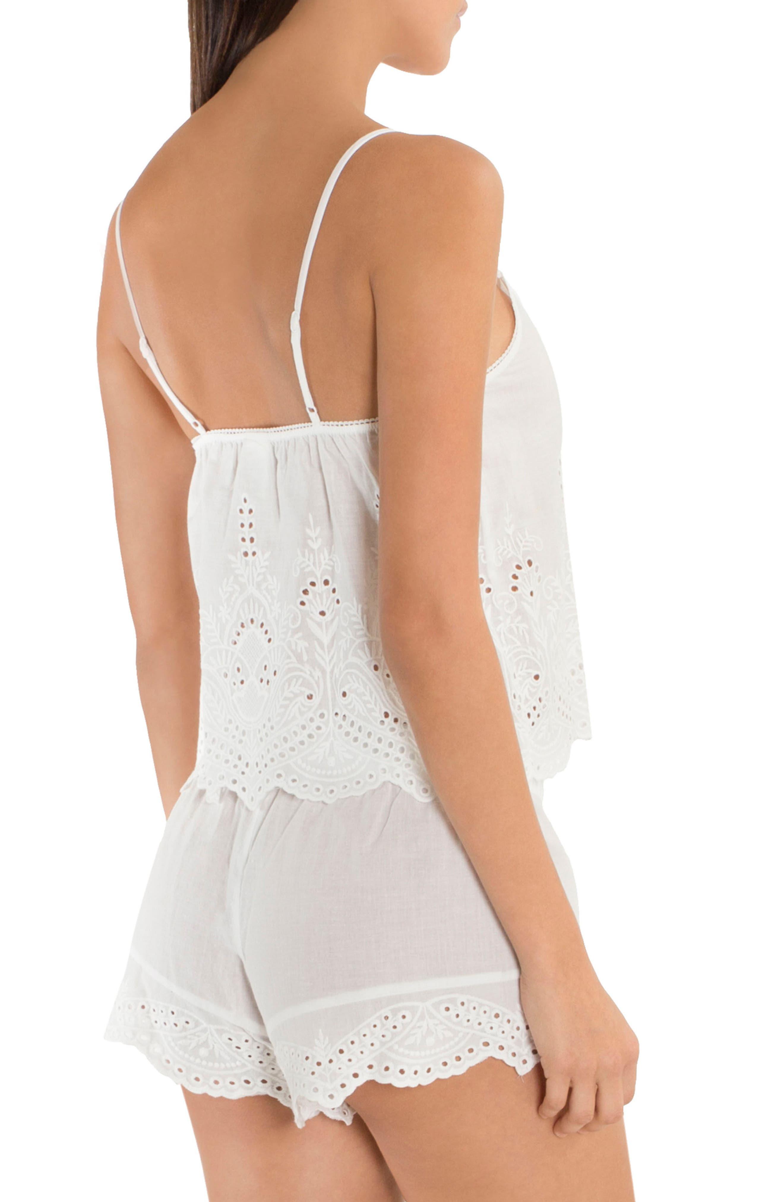 Eyelet Cotton Short Pajamas,                             Alternate thumbnail 2, color,                             900