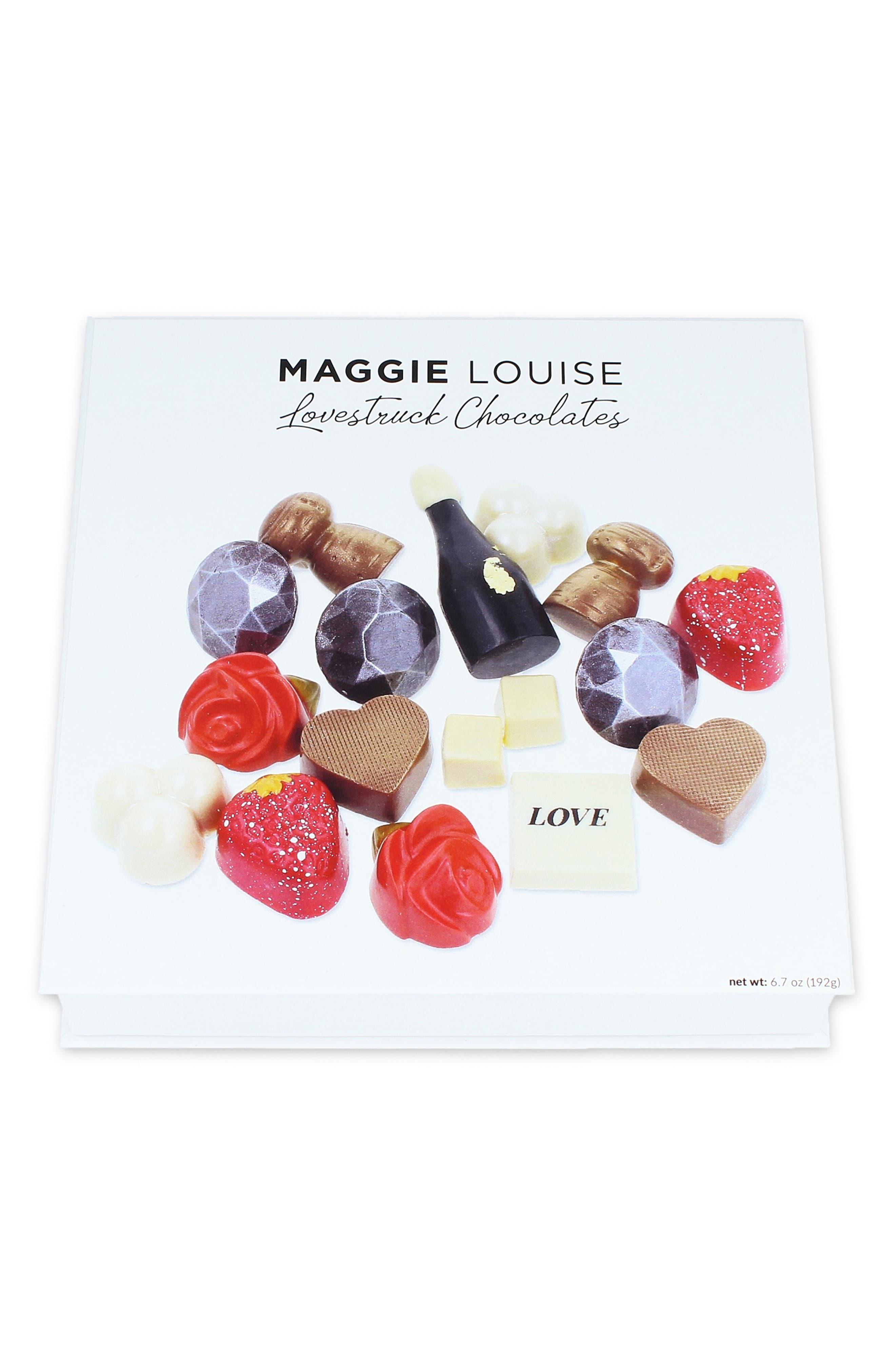 MAGGIE LOUISE CONFECTIONS,                             Lovestruck 16-Piece Chocolate Set,                             Alternate thumbnail 3, color,                             WHITE