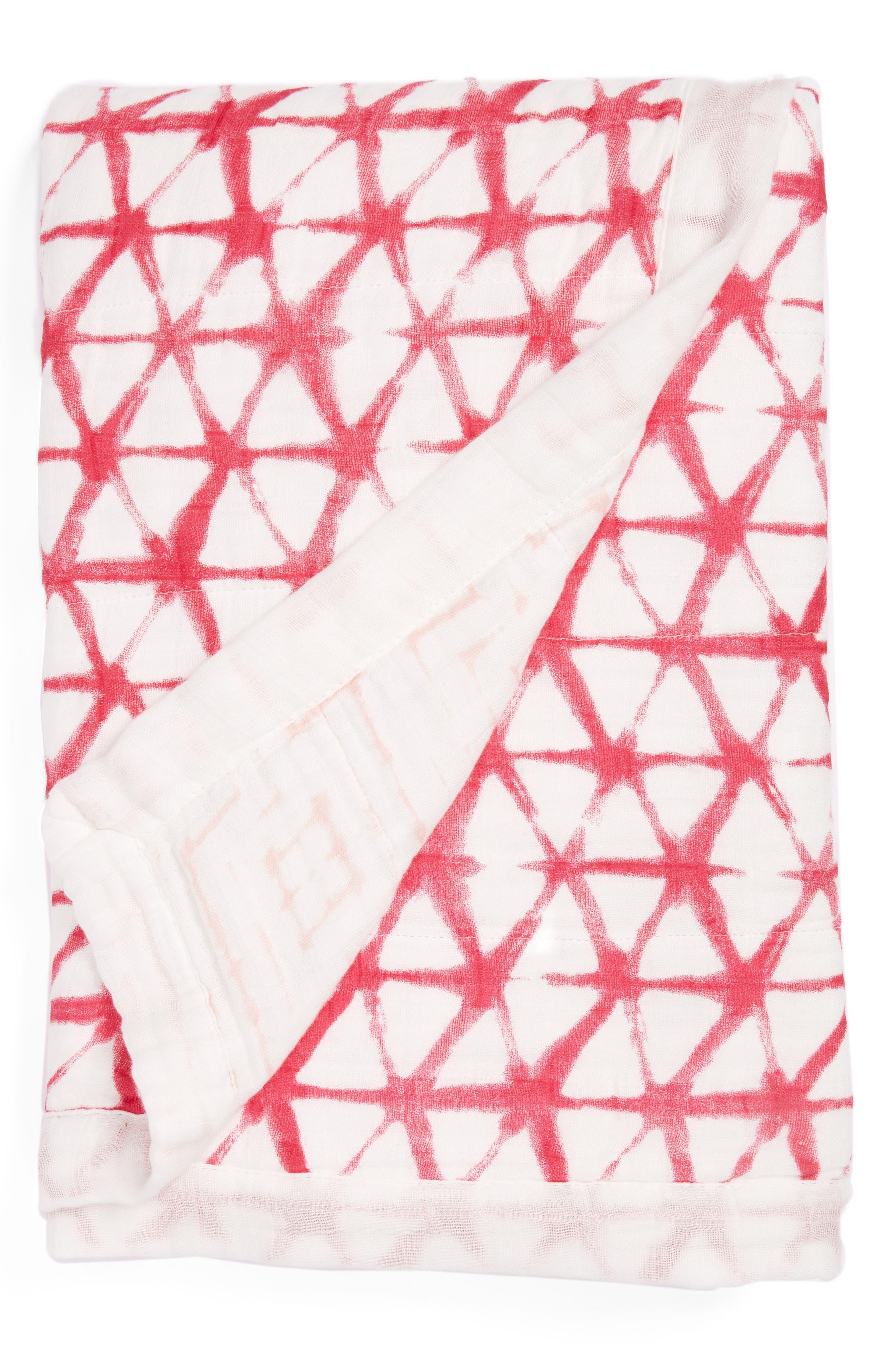 Silky Soft Dream Blanket<sup>™</sup>,                             Main thumbnail 1, color,                             BERRY SHIBORI