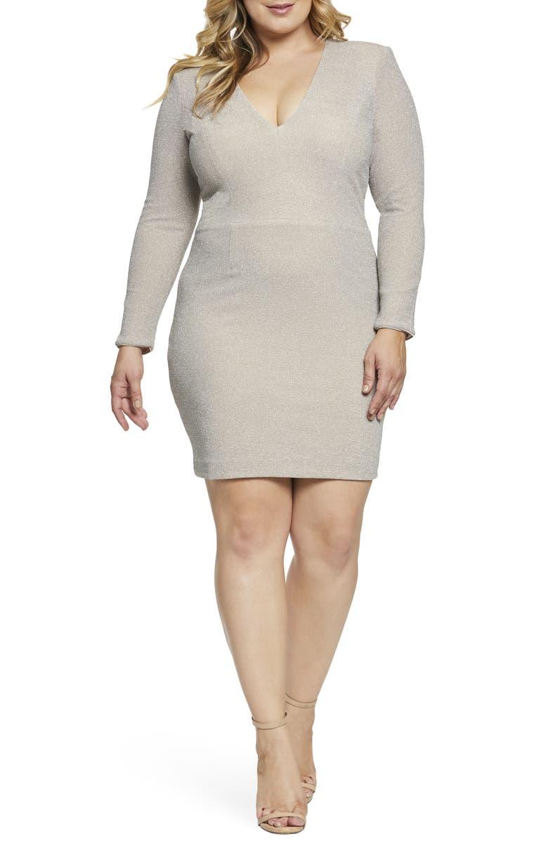 Dress The Population RILEY METALLIC SHEATH DRESS