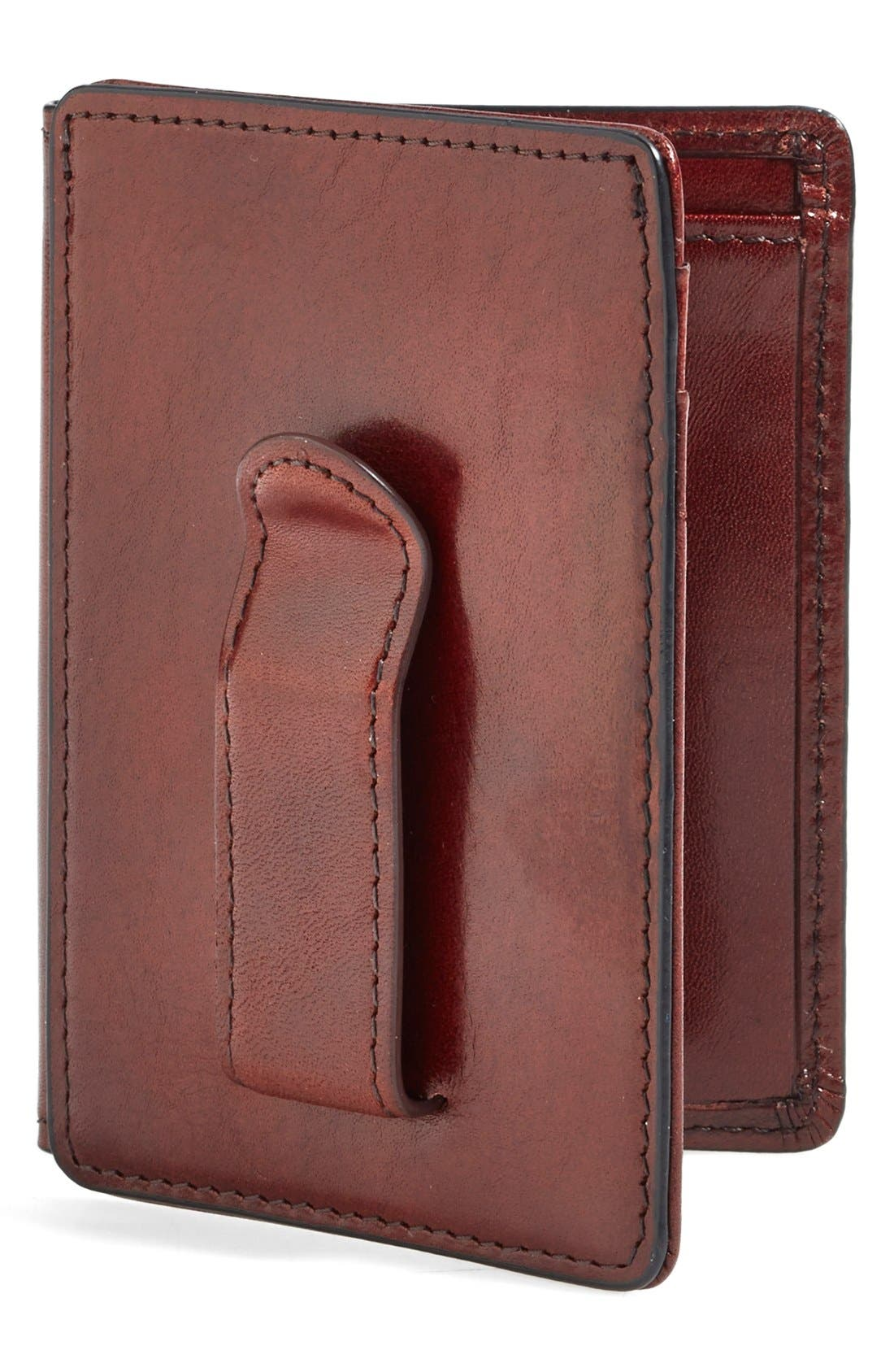 'Old Leather' Front Pocket ID Wallet,                             Main thumbnail 1, color,                             DARK BROWN
