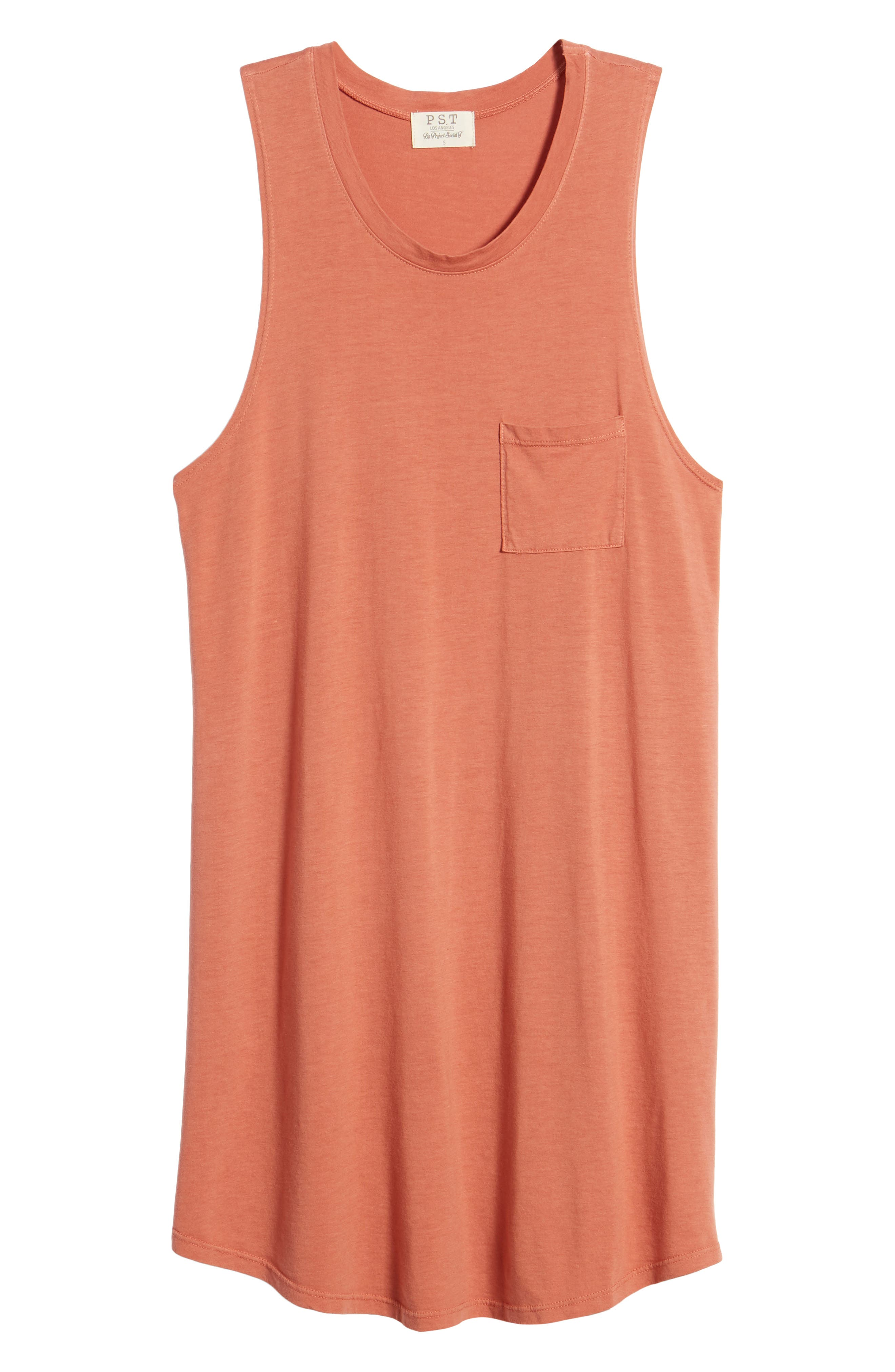Pocket Tank Dress,                             Alternate thumbnail 7, color,                             PINK DESERT