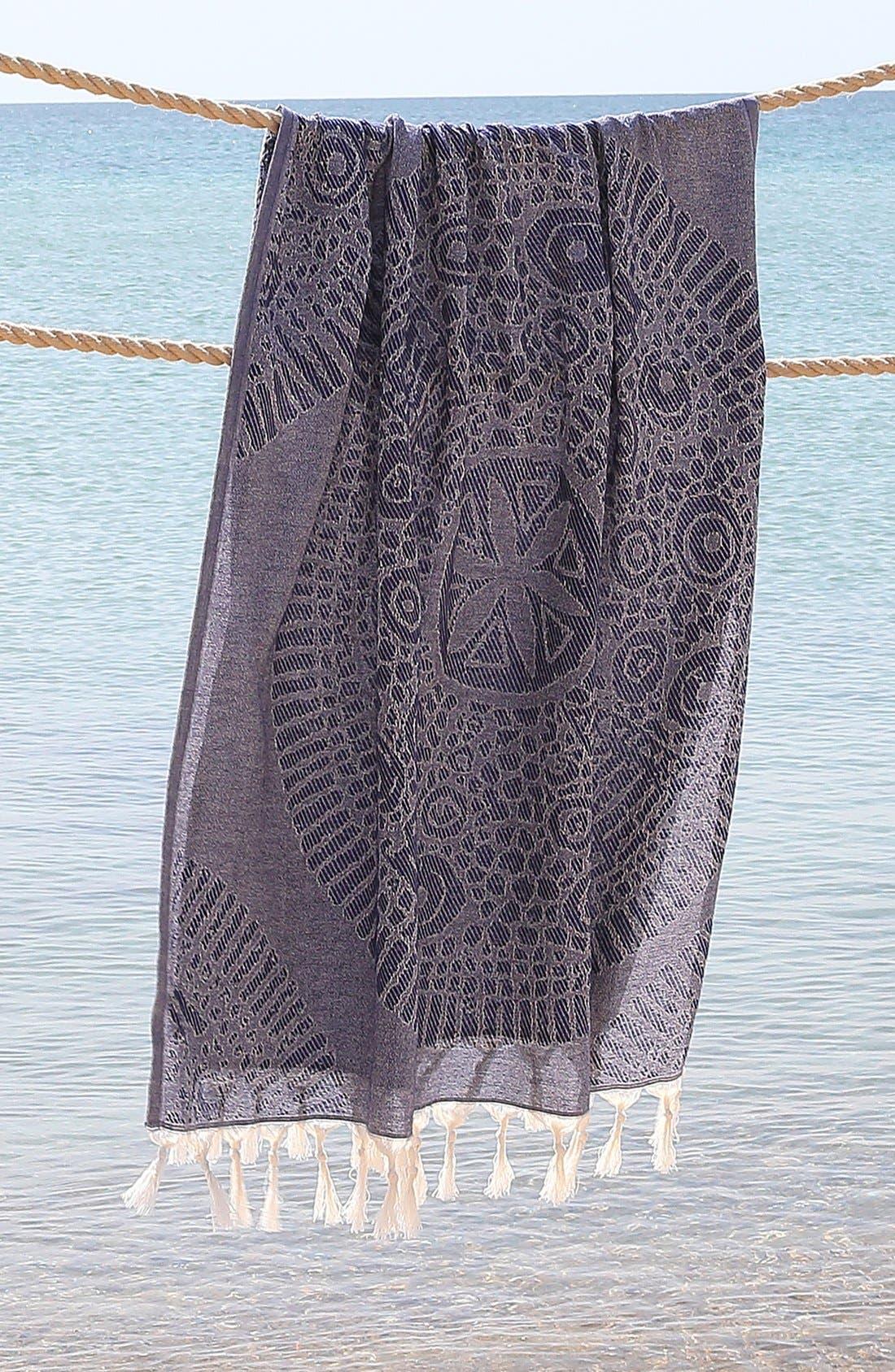 Anatolian Turkish Pestemal Beach Towel,                             Alternate thumbnail 5, color,                             400
