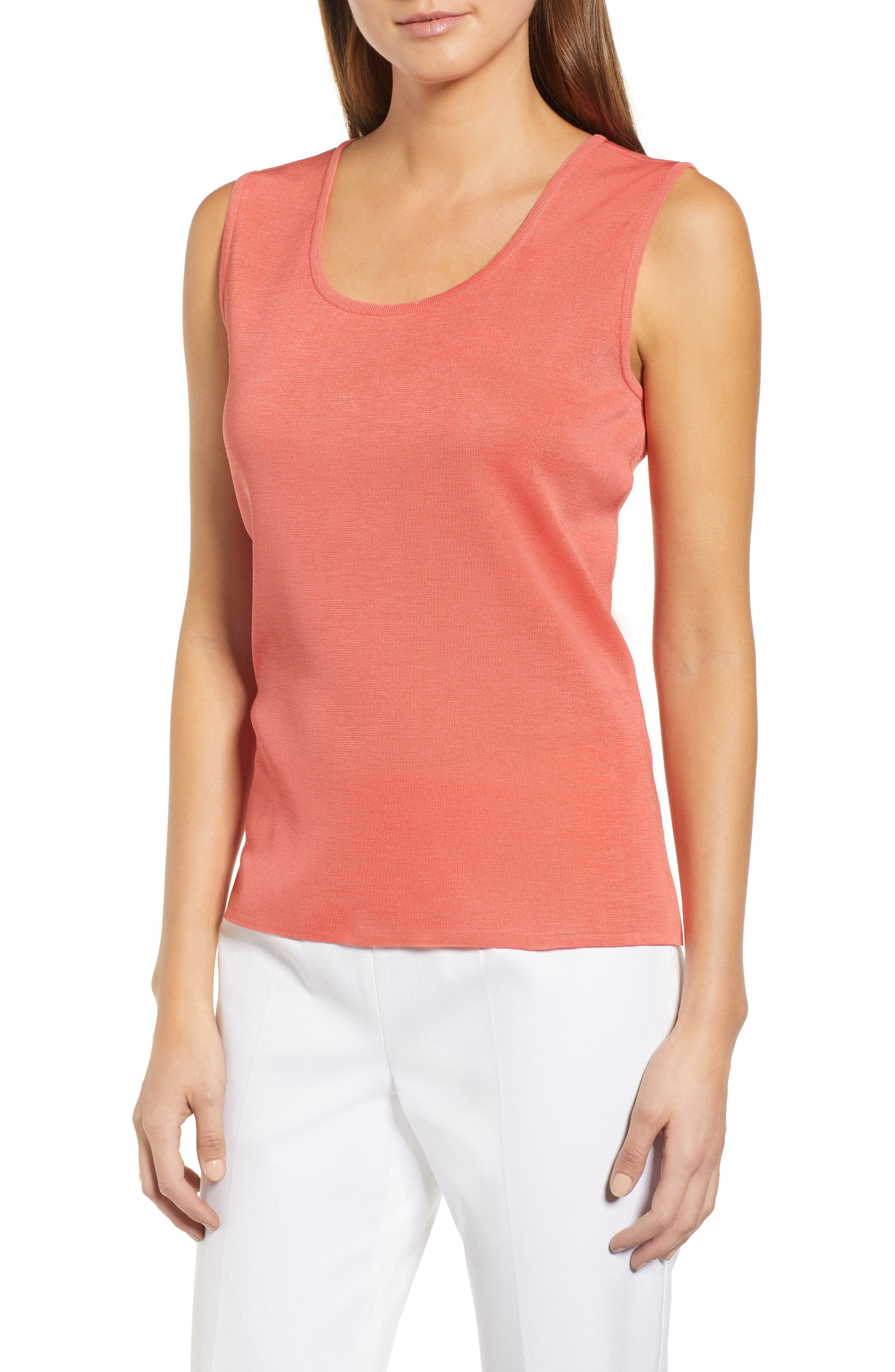 Scoop Neck Tank, Main, color, DAYLILY
